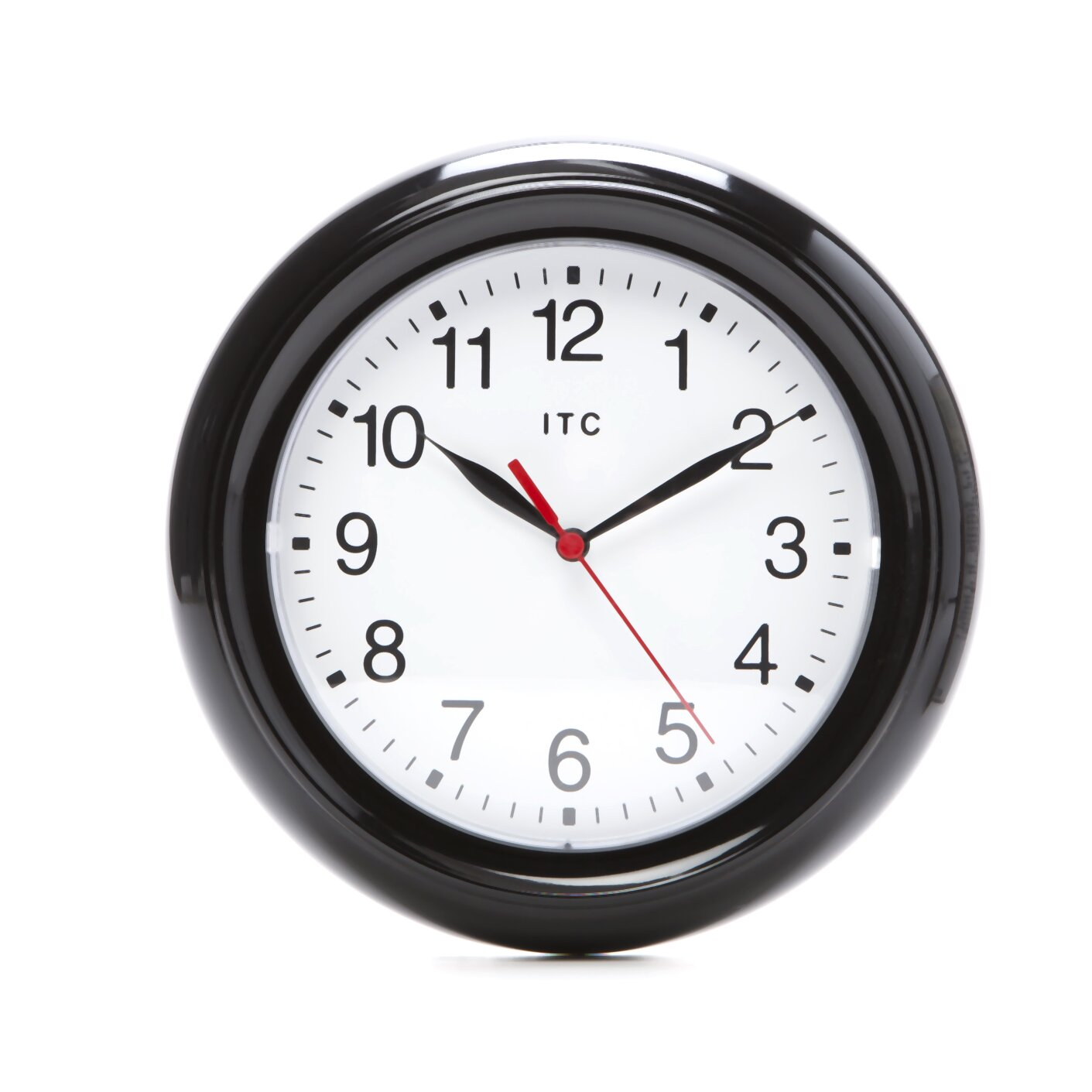 infinity instruments 9 small black wall clock reviews. Black Bedroom Furniture Sets. Home Design Ideas