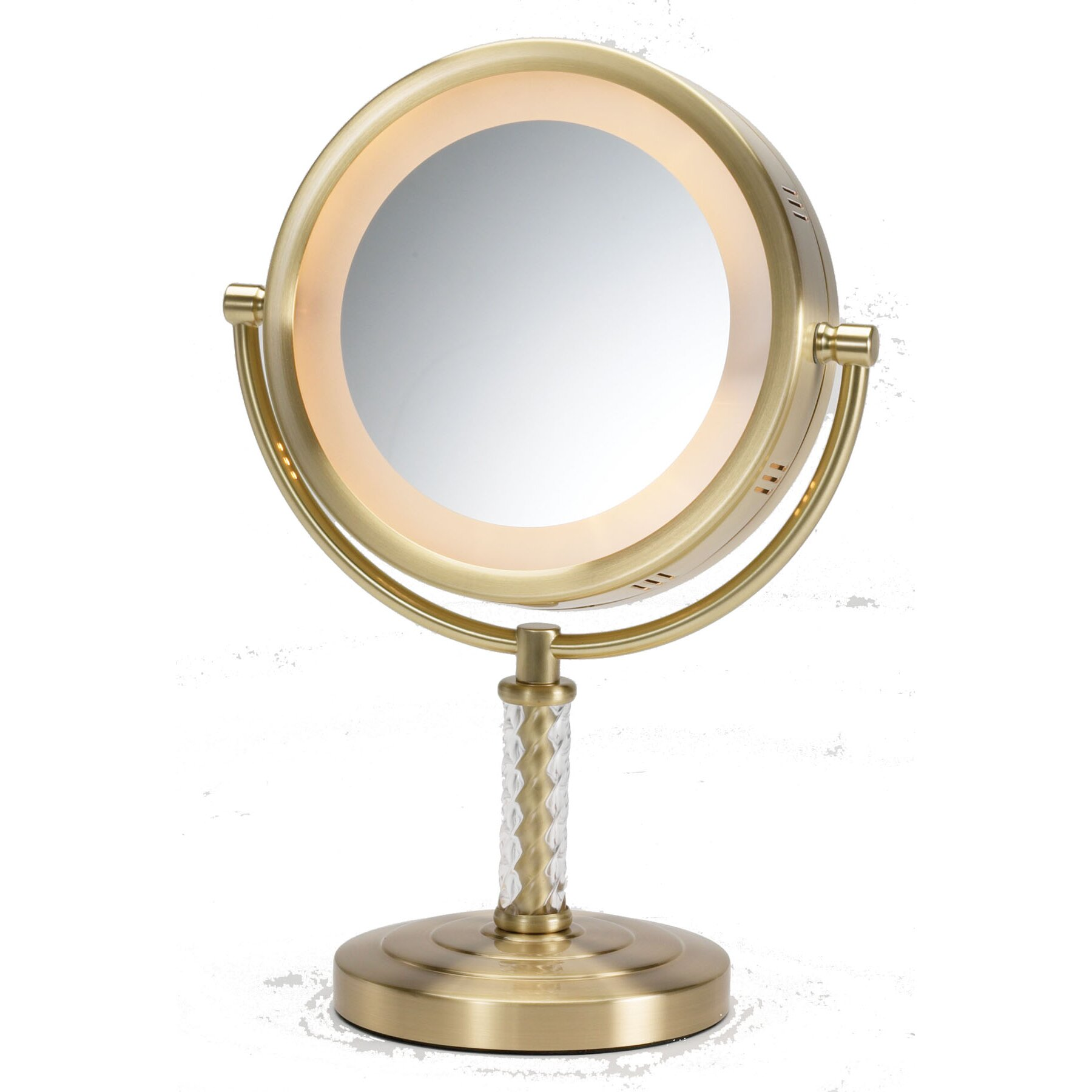 Vanity Mirror With Lights Wayfair : Jerdon Dual Sided Halo Lighted Vanity Mirror & Reviews Wayfair