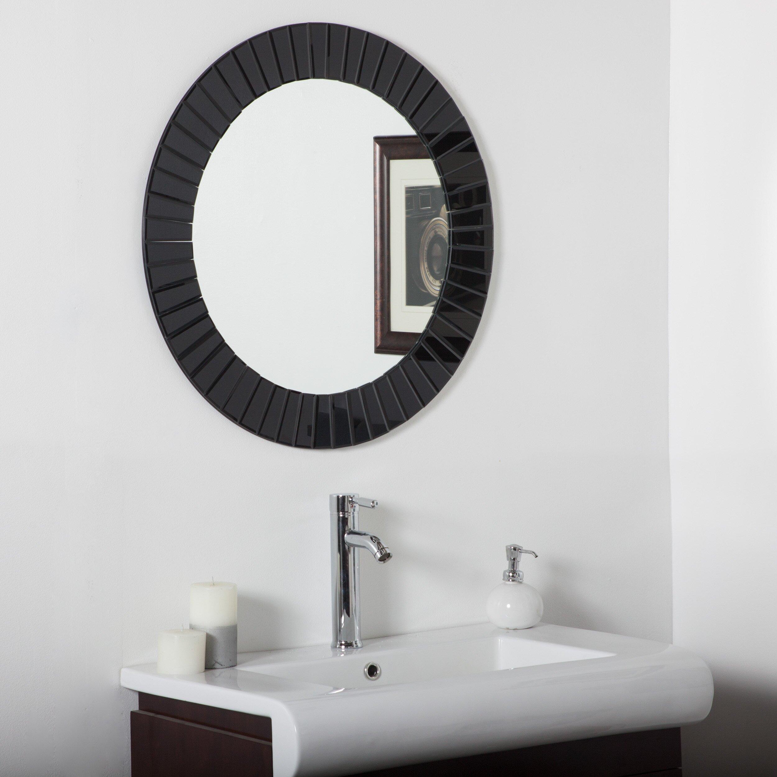 Decor Wonderland The Glow Modern Frameless Wall Mirror ...