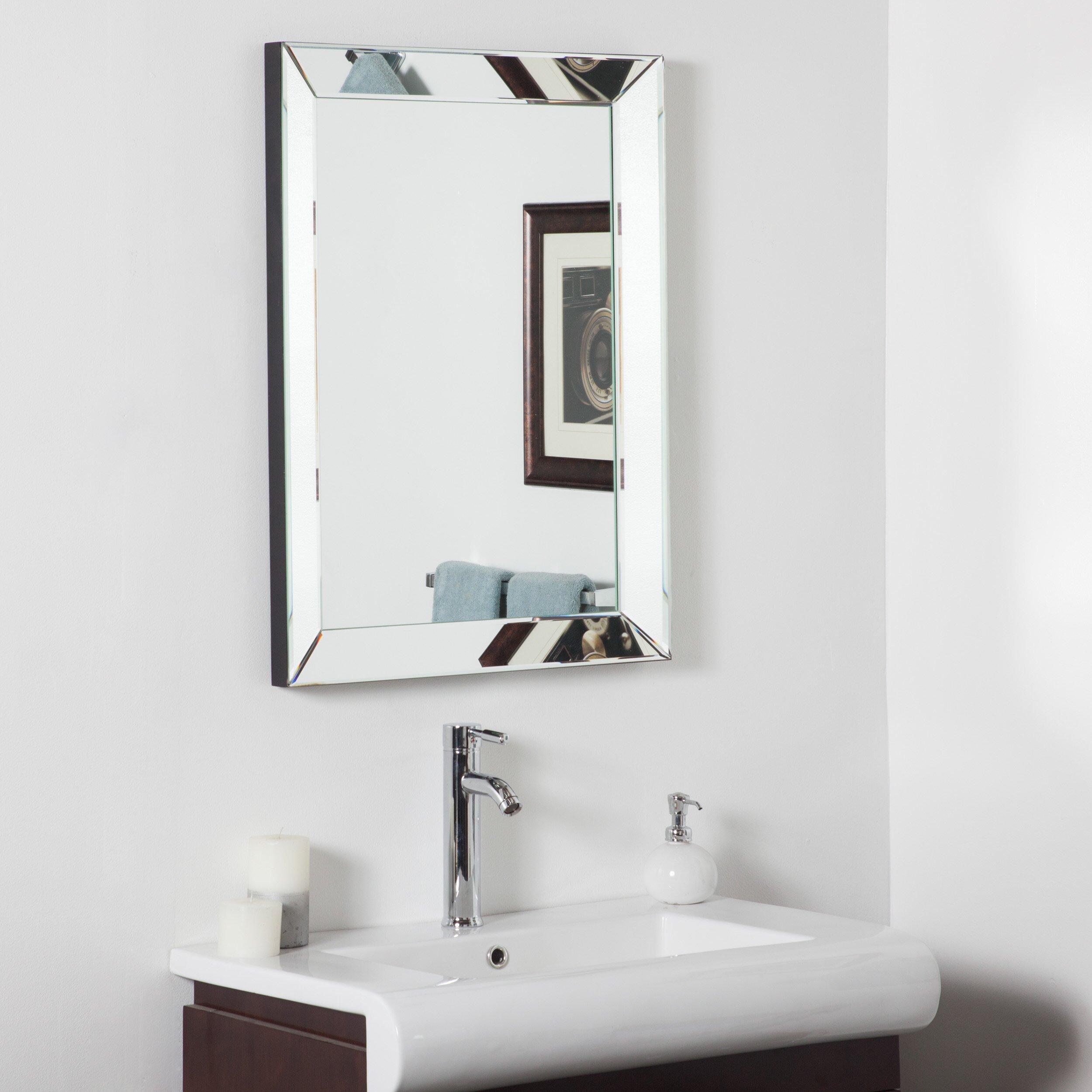 Decor wonderland mirror framed wall mirror reviews wayfair for Master bathroom mirror designs