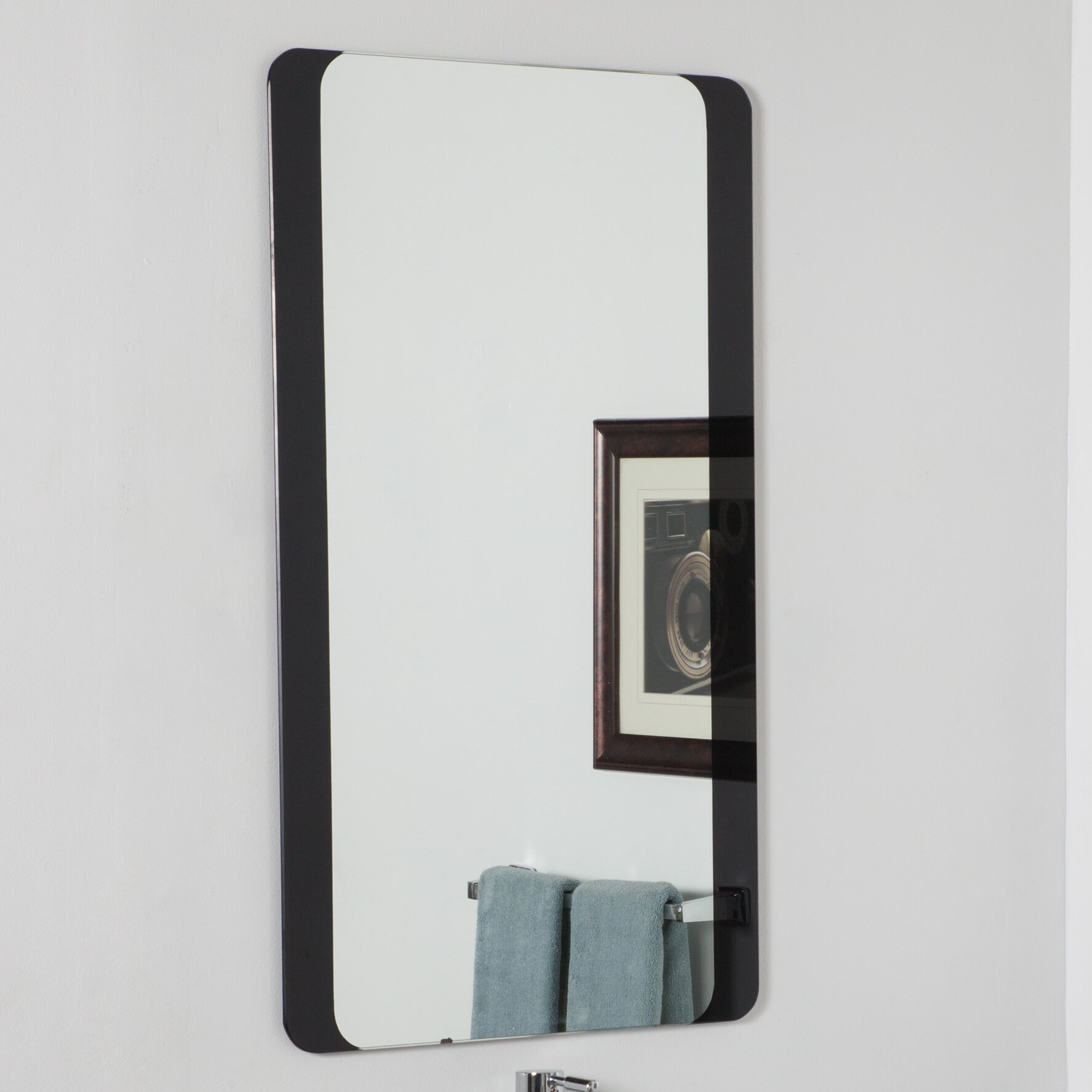 Decor wonderland large wall mirror reviews wayfair for Mirror wall art