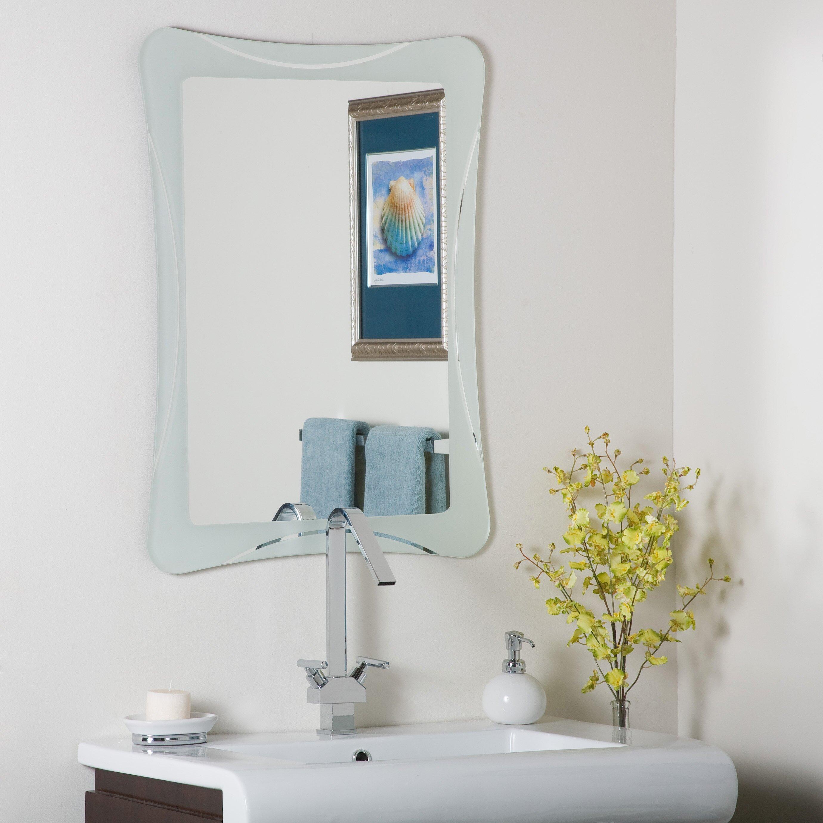 Varick Gallery Logan Frameless Terassa Wall Mirror ...