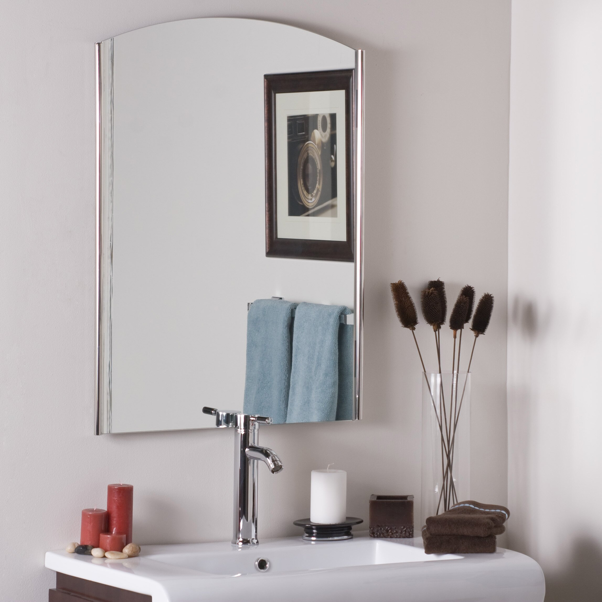 Decor wonderland frameless ella wall mirror reviews for Frameless wall mirror