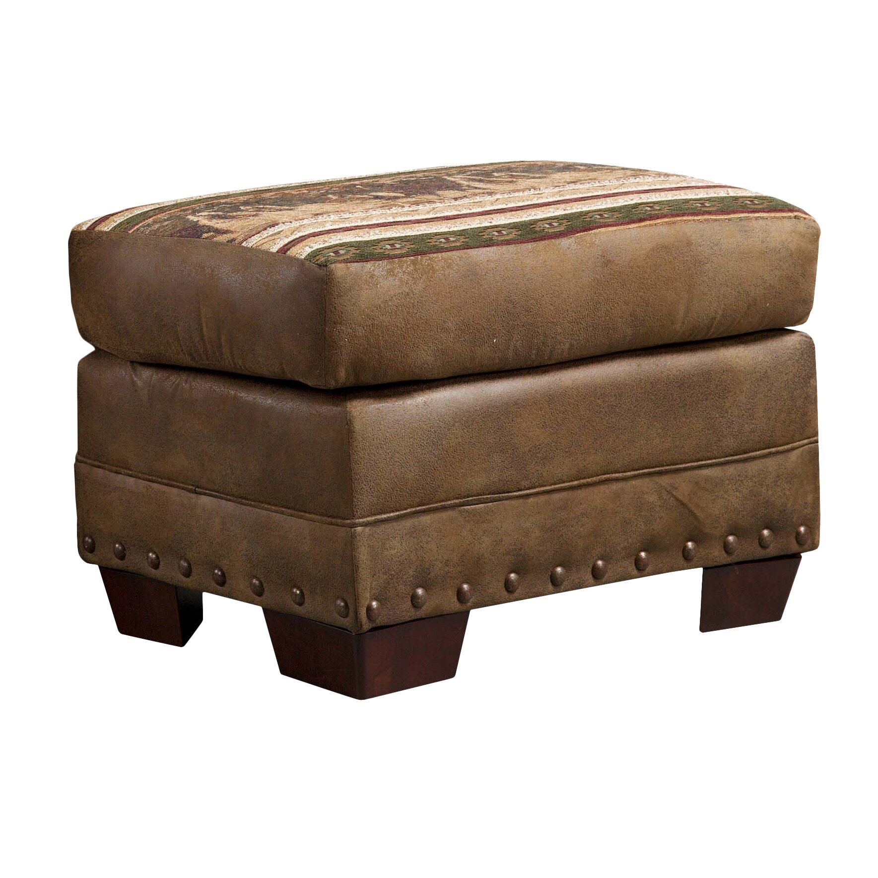 American Furniture Classics Lodge Wild Horses Ottoman Reviews Wayfair