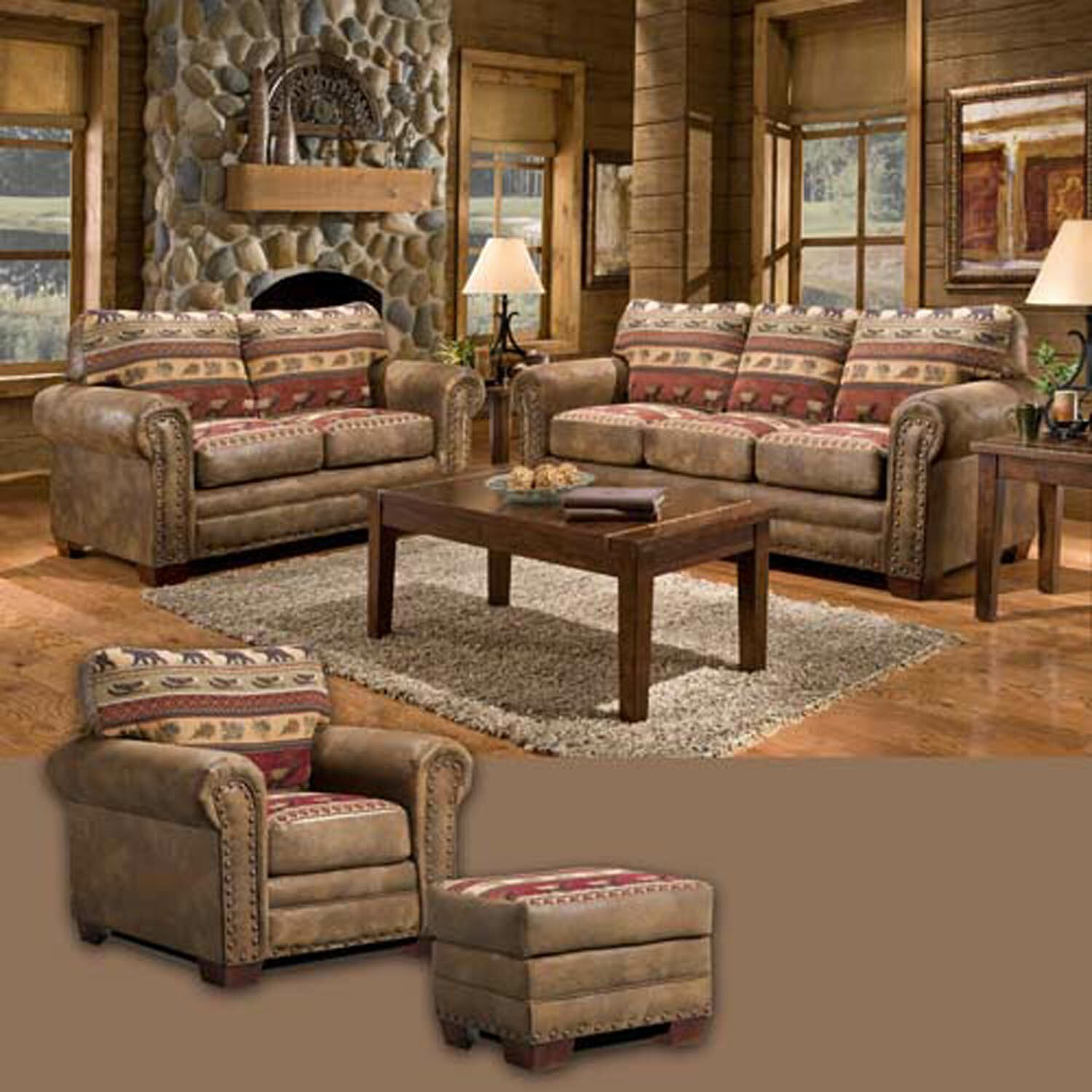 American furniture classics sierra lodge 4 piece living for 4 piece living room set