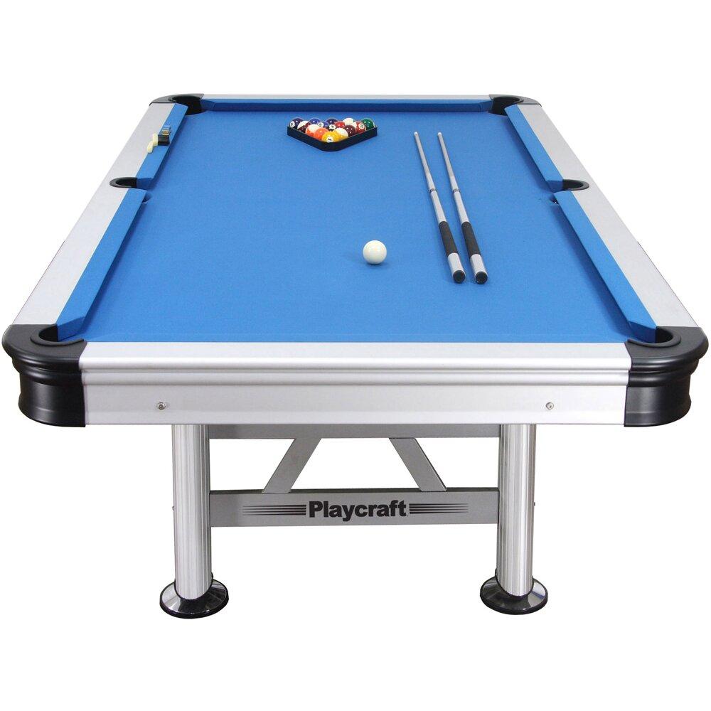 Playcraft Extera Outdoor 8 39 Pool Table With Playing