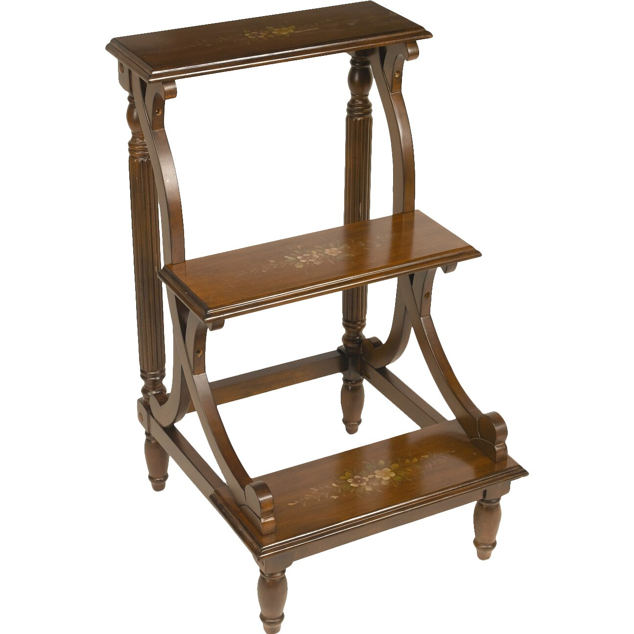 Aa Importing 3 Step Wood Library Step Stool Amp Reviews