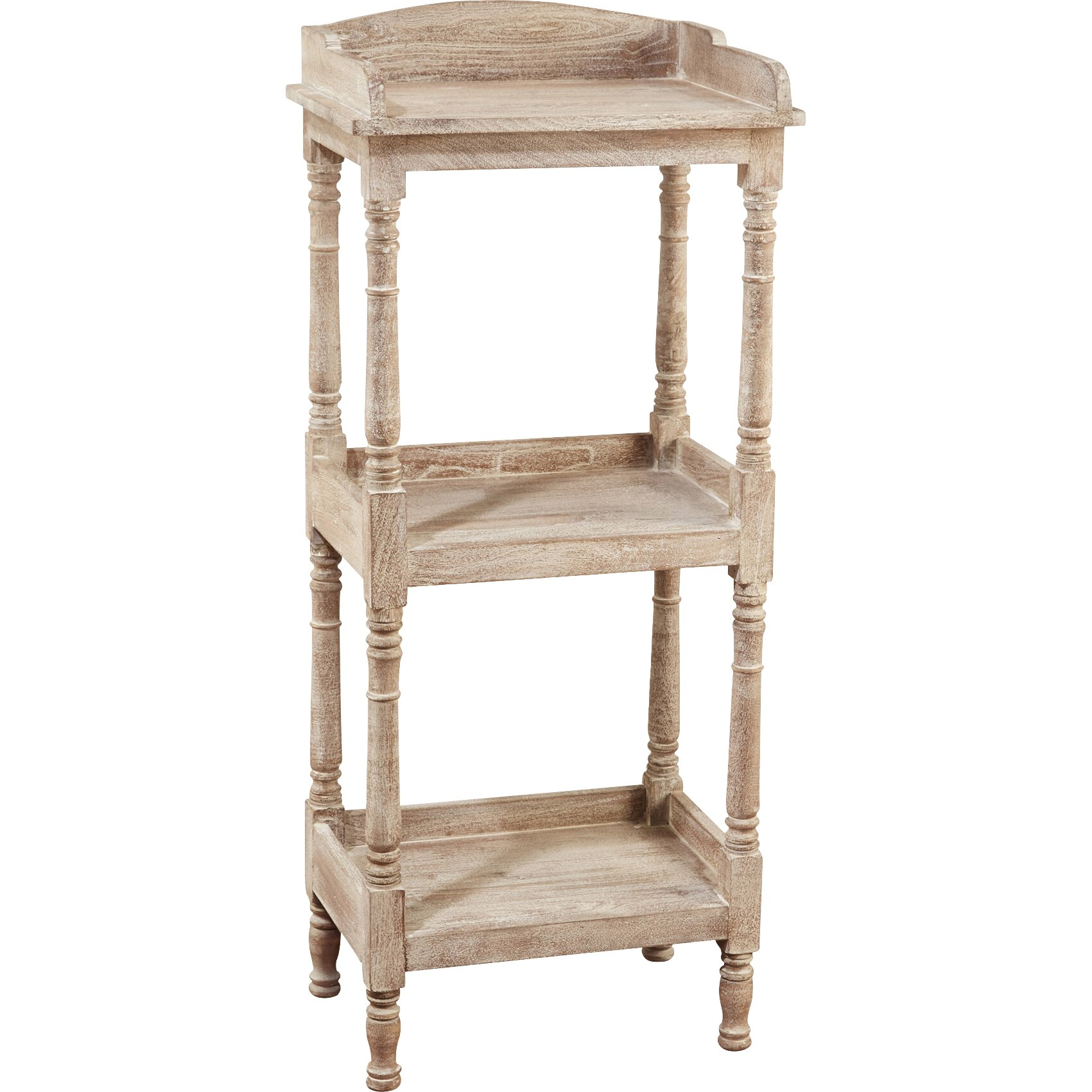 aa importing 3 tier narrow 47 etagere bookcase wayfair. Black Bedroom Furniture Sets. Home Design Ideas