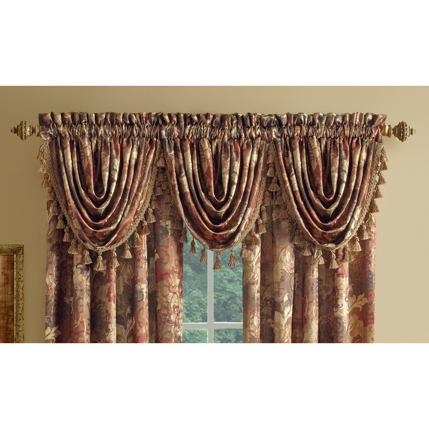 Croscill Lorna Waterfall 42 Curtain Valance Reviews Wayfair
