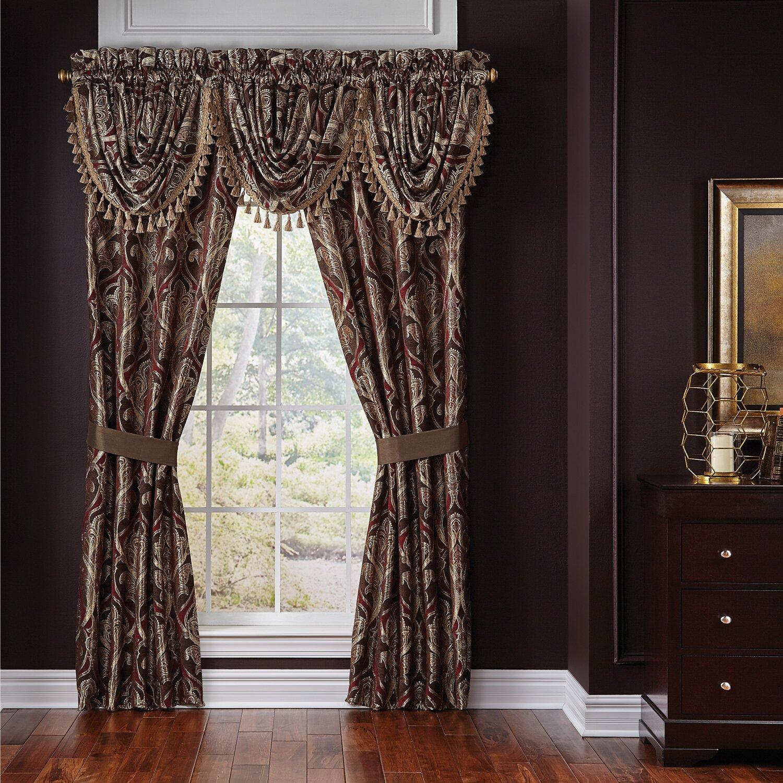 Croscill bradney curtain valance reviews wayfair for Home curtains