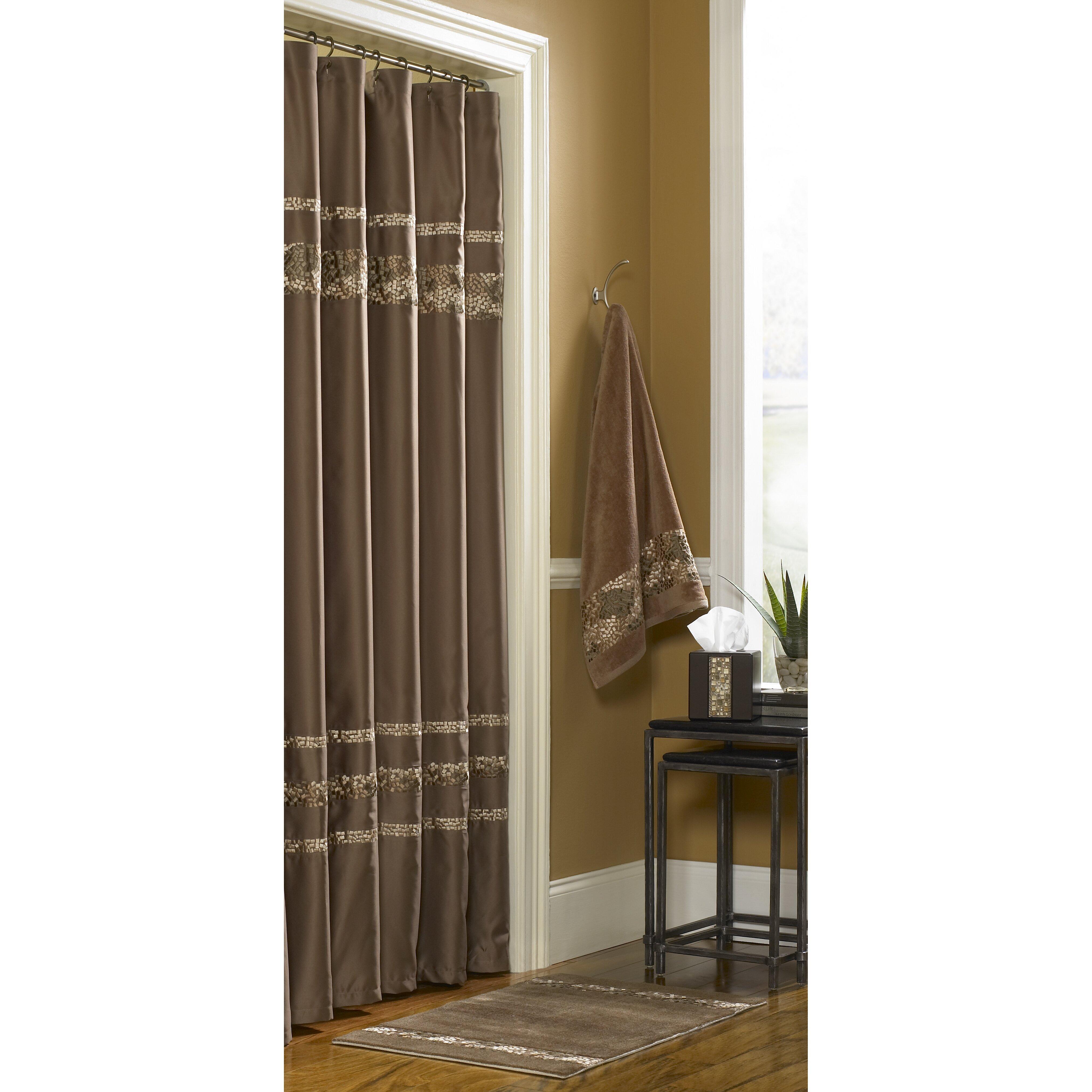croscill mosaic shower curtain