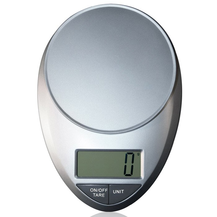 Eatsmart precision pro digital kitchen scale in silver for Kitchen pro smart scale