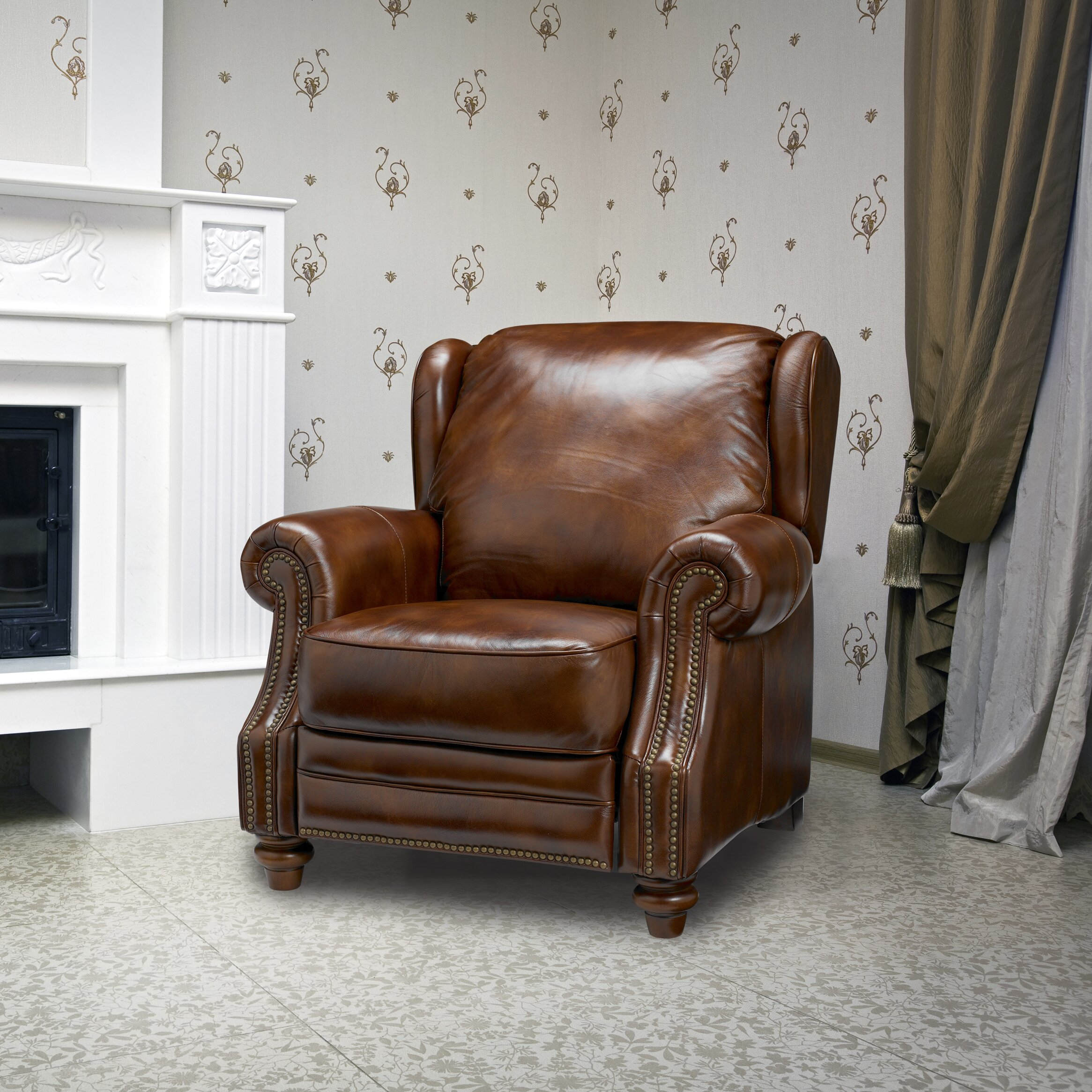 Leather Recliner Sofa Rooms To Go: Sofas To Go Henderson Leather Wing Recliner & Reviews