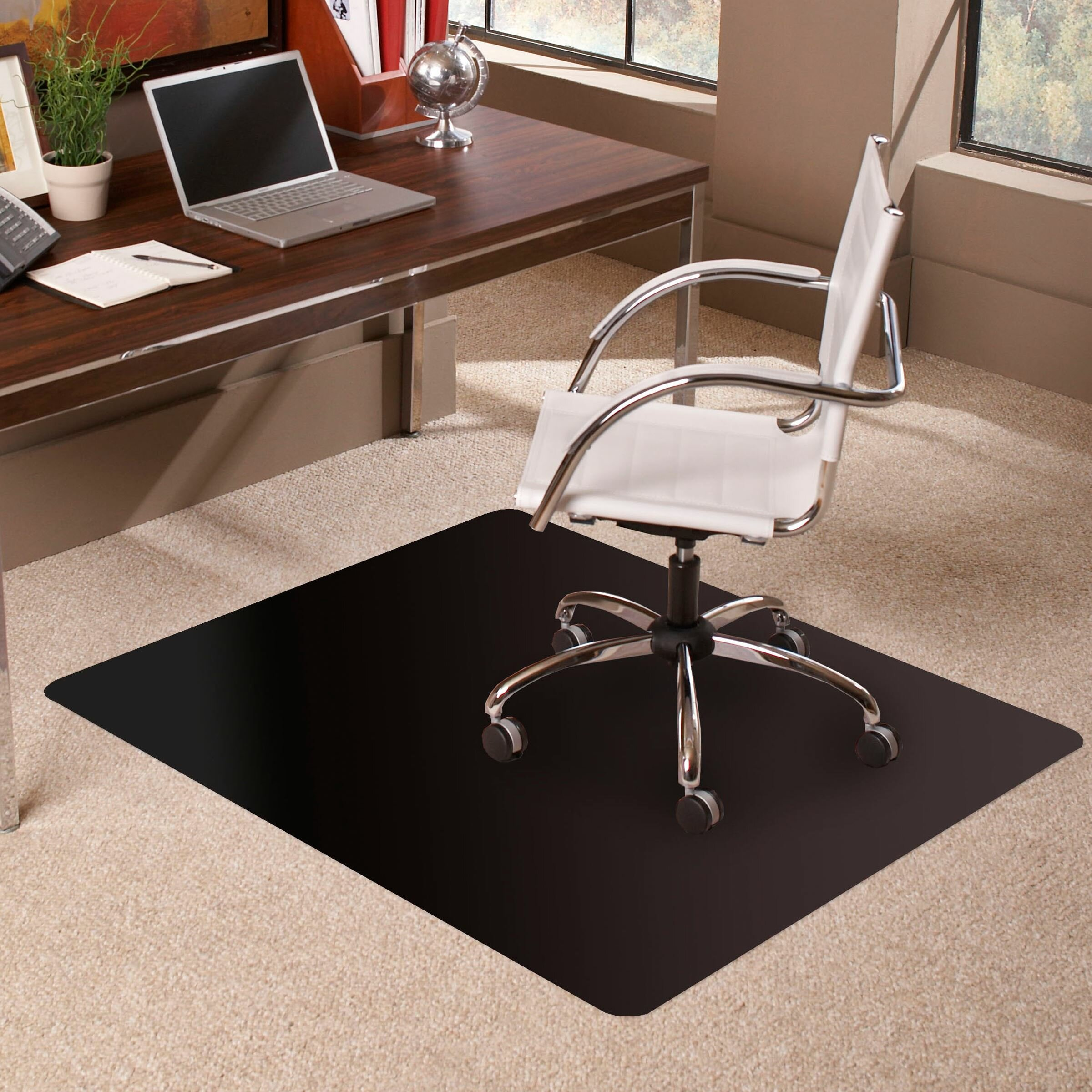 Chair Mat For Deep Pile Carpet: ES Robbins TrendSetter Rectangle Low Pile Carpet Straight
