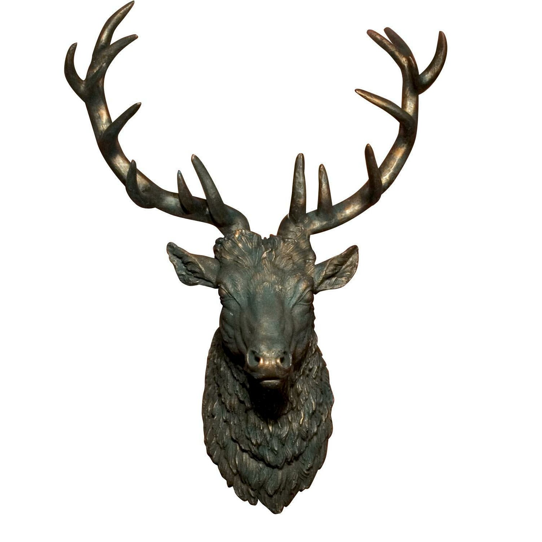 Alpenhome gypsum stags head wall decor reviews wayfair uk - Decorative stags head ...