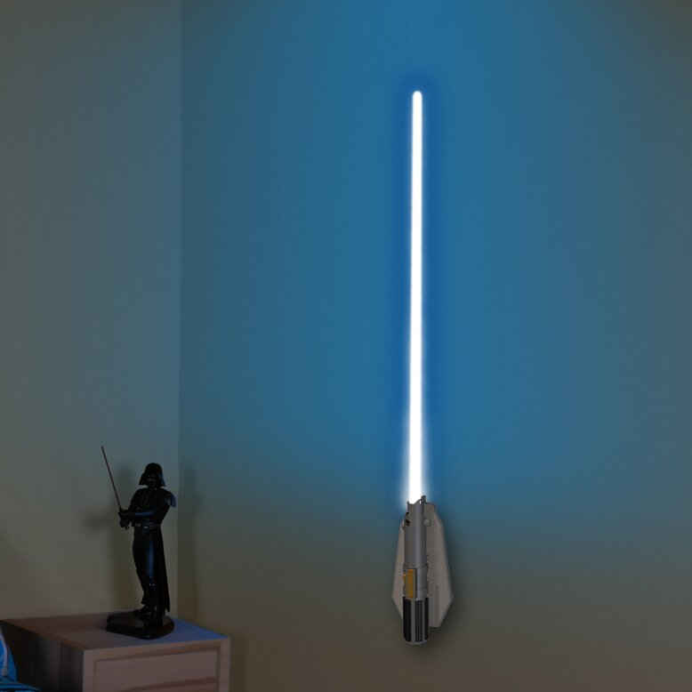 Uncle Milton Deluxe 8 Color Lightsaber Room Light 3D Wall Decor & Reviews Wayfair
