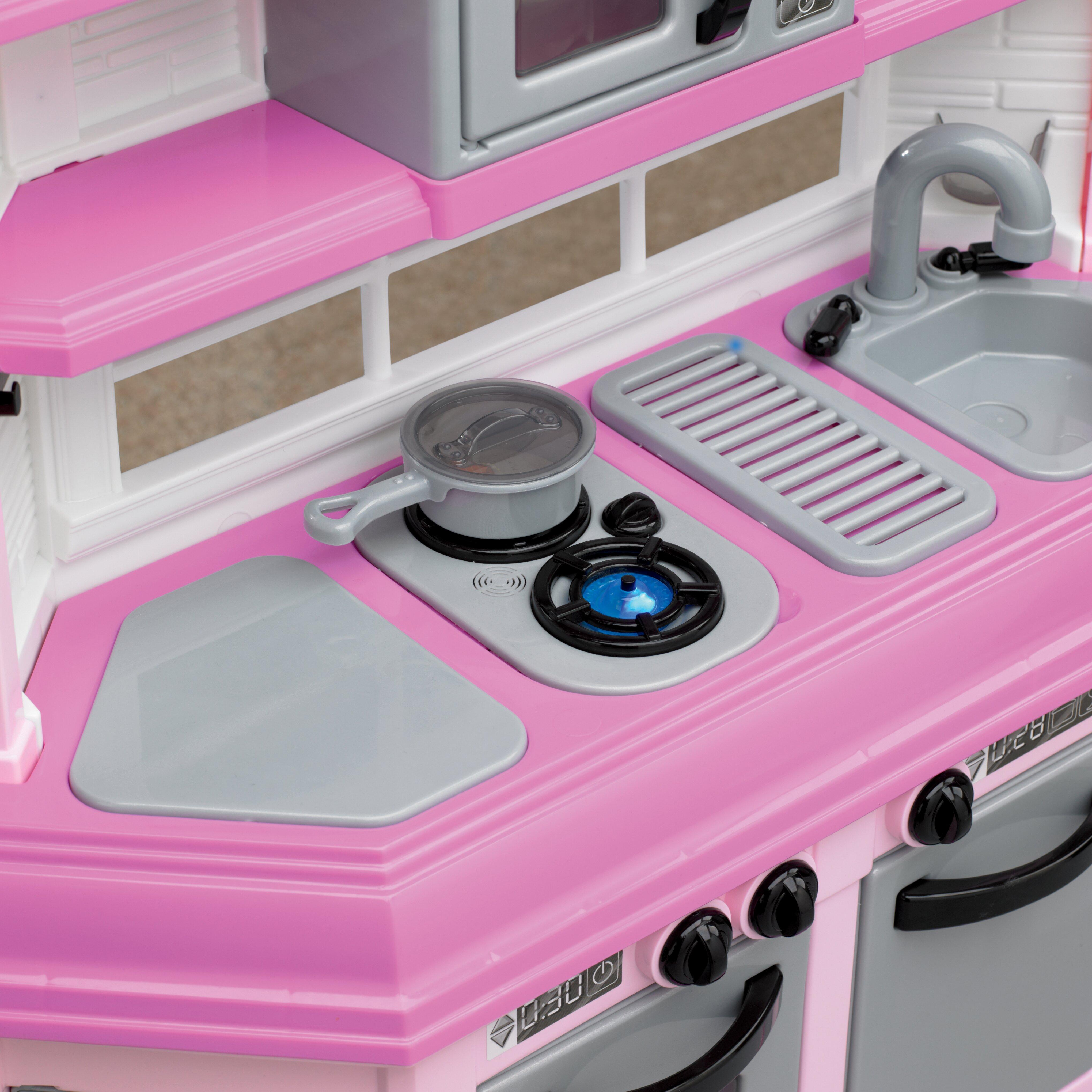 American plastic toys 22 piece custom kitchen set for Plastic kitchen set