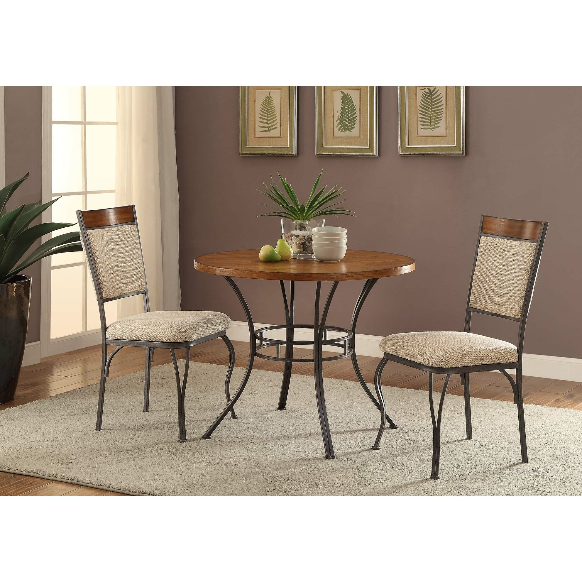 Anthony California 3 Piece Dining Set Amp Reviews Wayfair