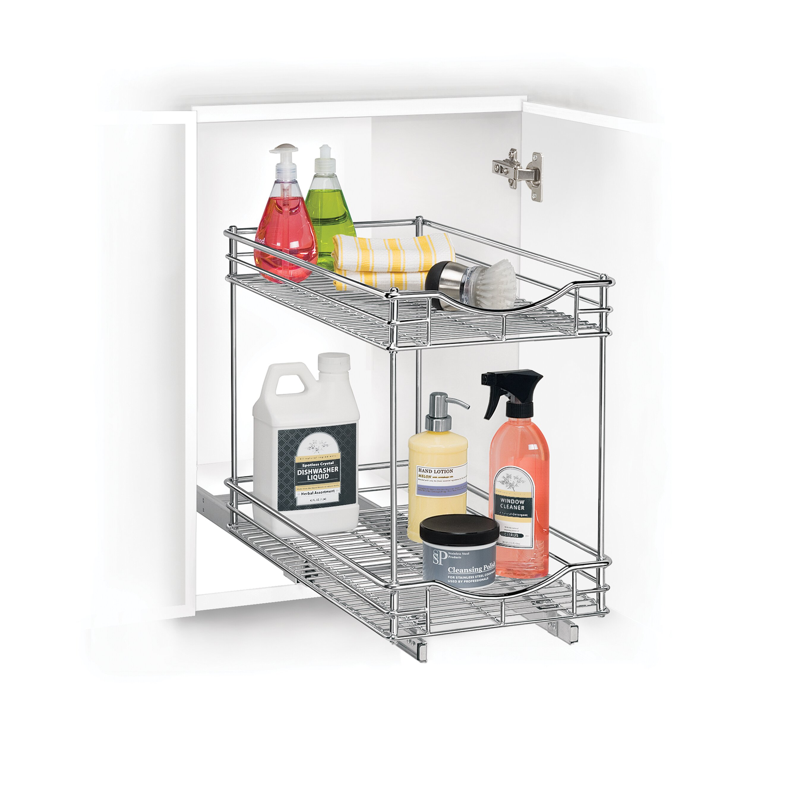 Lynk Roll Out Cabinet Organizer: Lynk Lynk Professional Roll Out Double Shelf