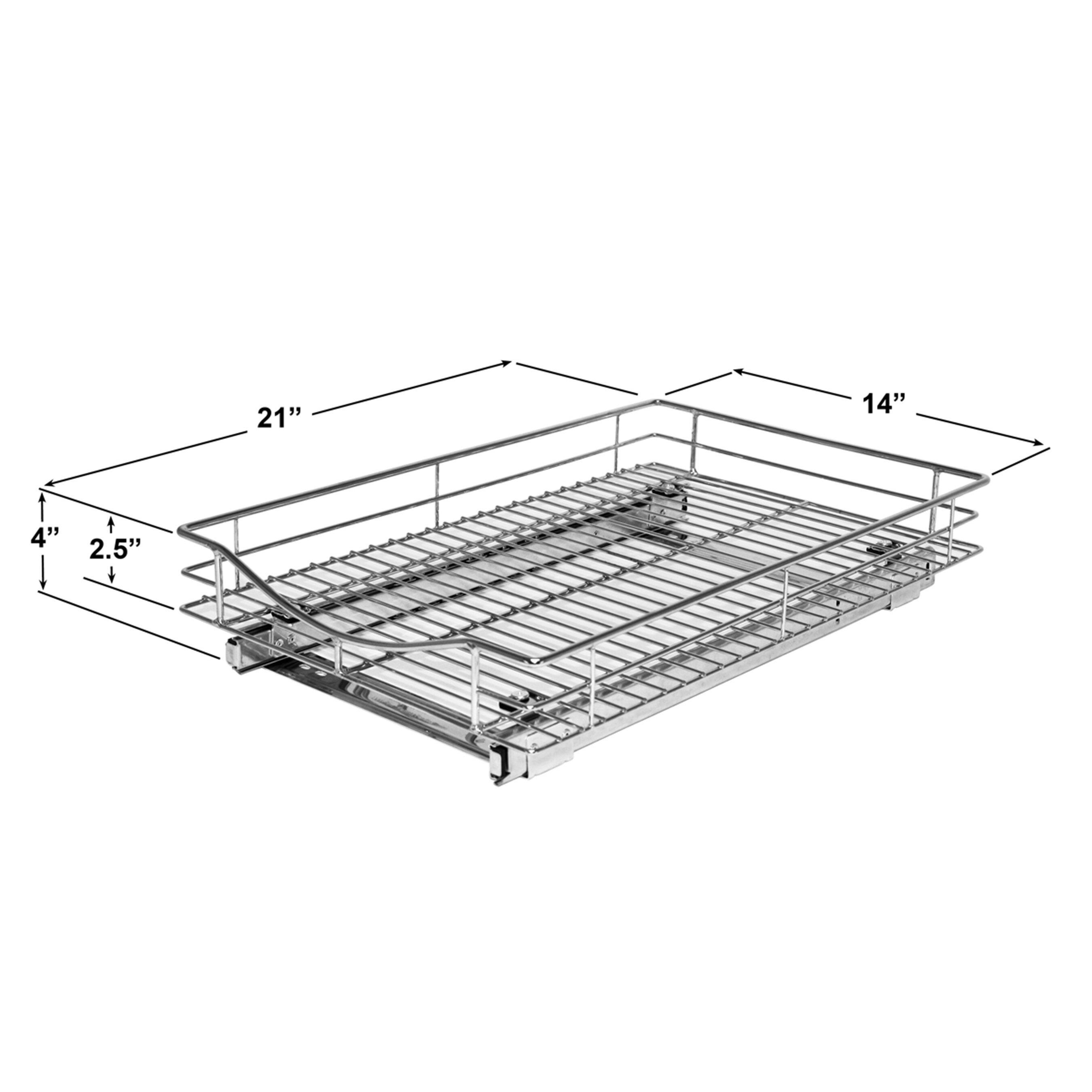 Lynk Roll Out Double Shelf: Lynk Lynk Professional Roll Out Cabinet Organizer