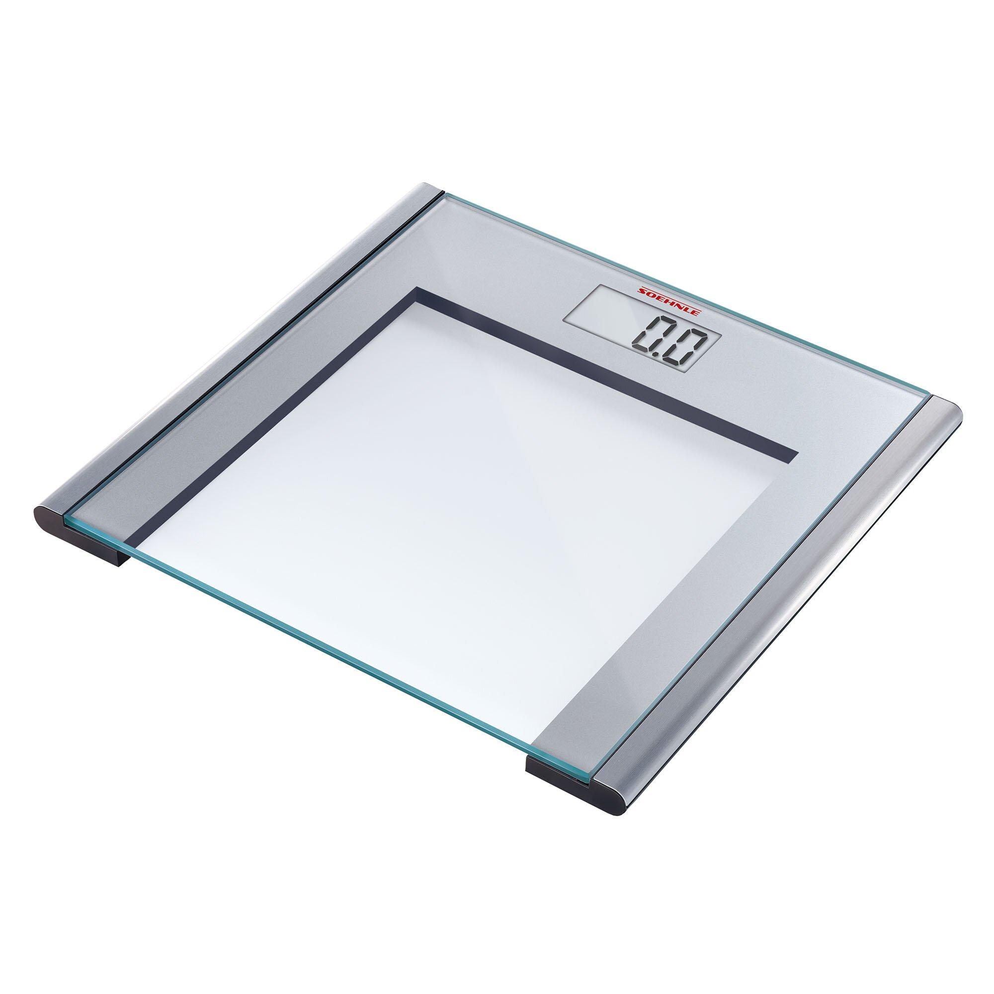 Review Bathroom Scales: Soehnle Silver Sense Precision Digital Bathroom Scale