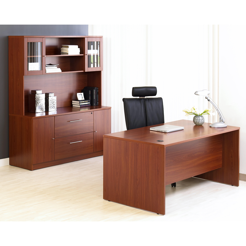unique furniture 100 collection 4 piece desk office suite reviews wayfair. Black Bedroom Furniture Sets. Home Design Ideas