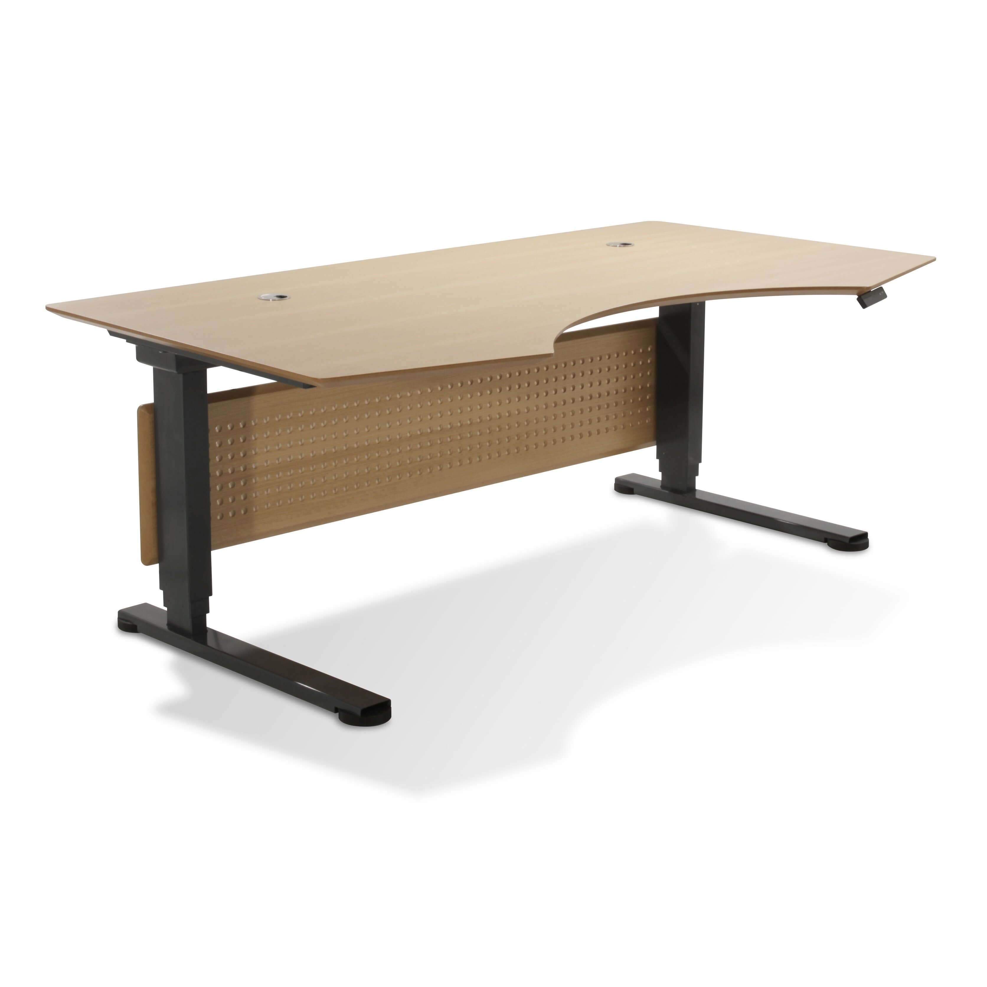 Unique furniture sit stand series prestige wood height for Weird tables