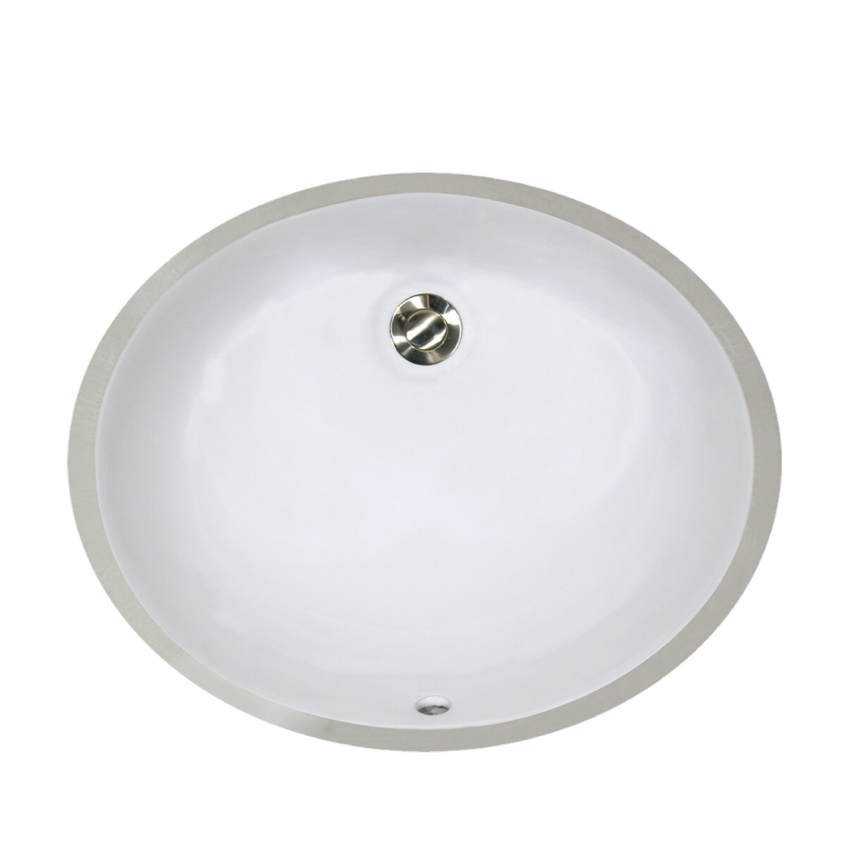 Nantucket Sinks Oval Undercounter Bathroom Sink with