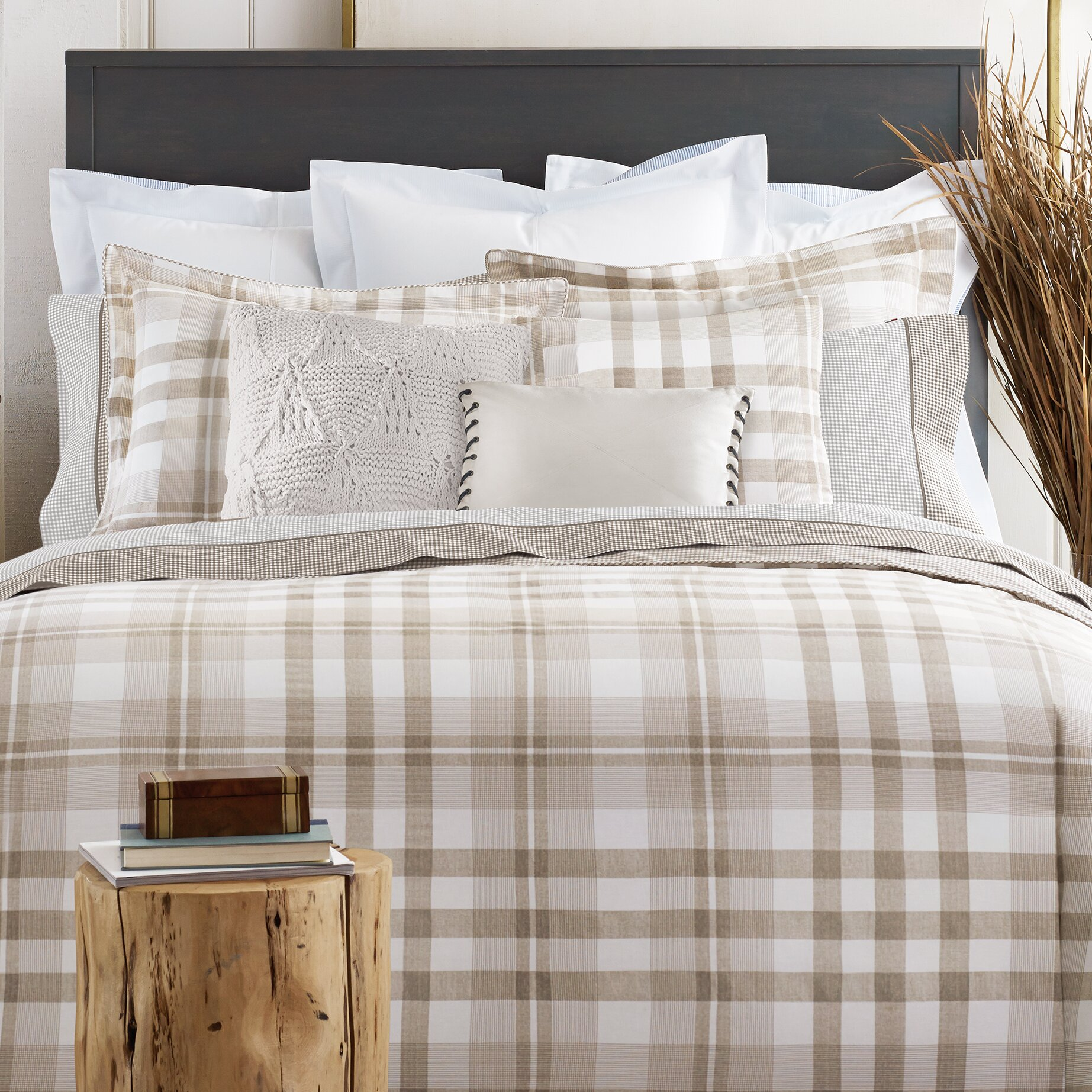Tommy Hilfiger Range Plaid Comforter Collection Reviews