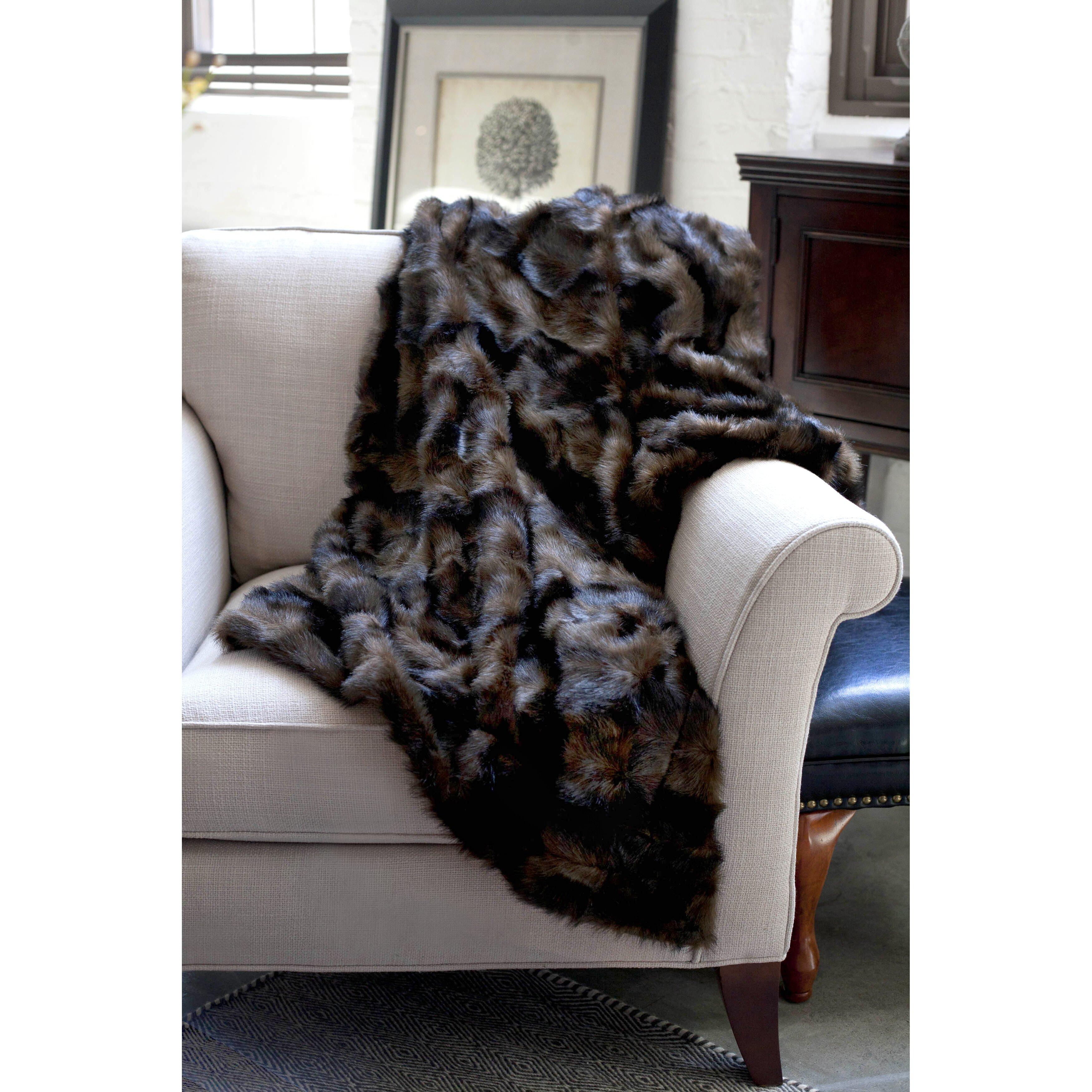 wovenworkz mink faux fur throw reviews wayfair. Black Bedroom Furniture Sets. Home Design Ideas
