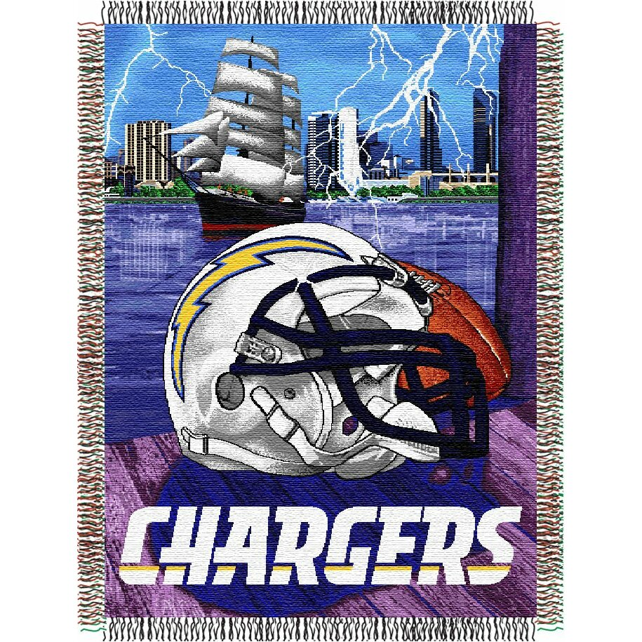 San Diego Chargers Blanket: Northwest Co. NFL San Diego Chargers Tapestry Throw