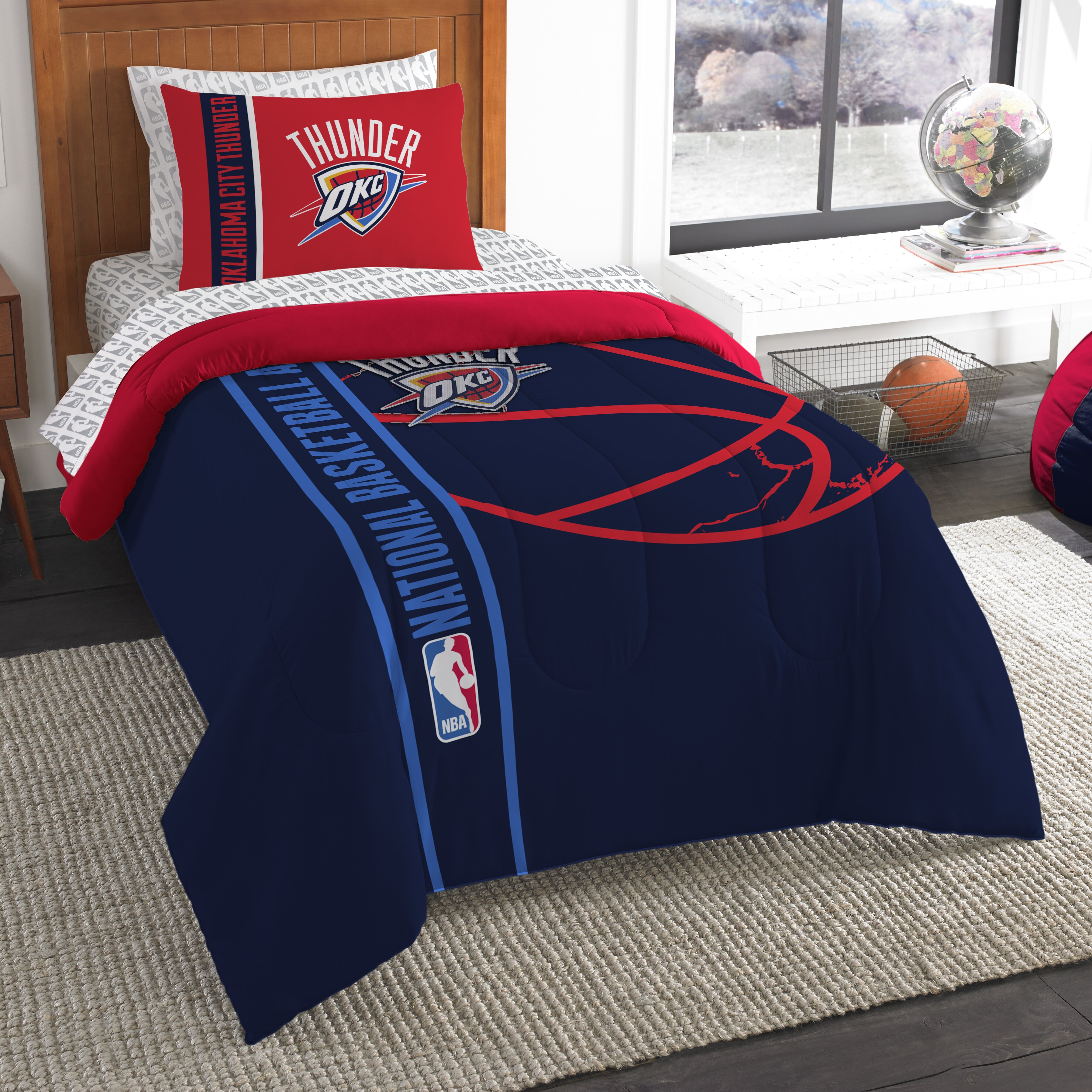 Oklahoma City Thunder Full Bedding Set