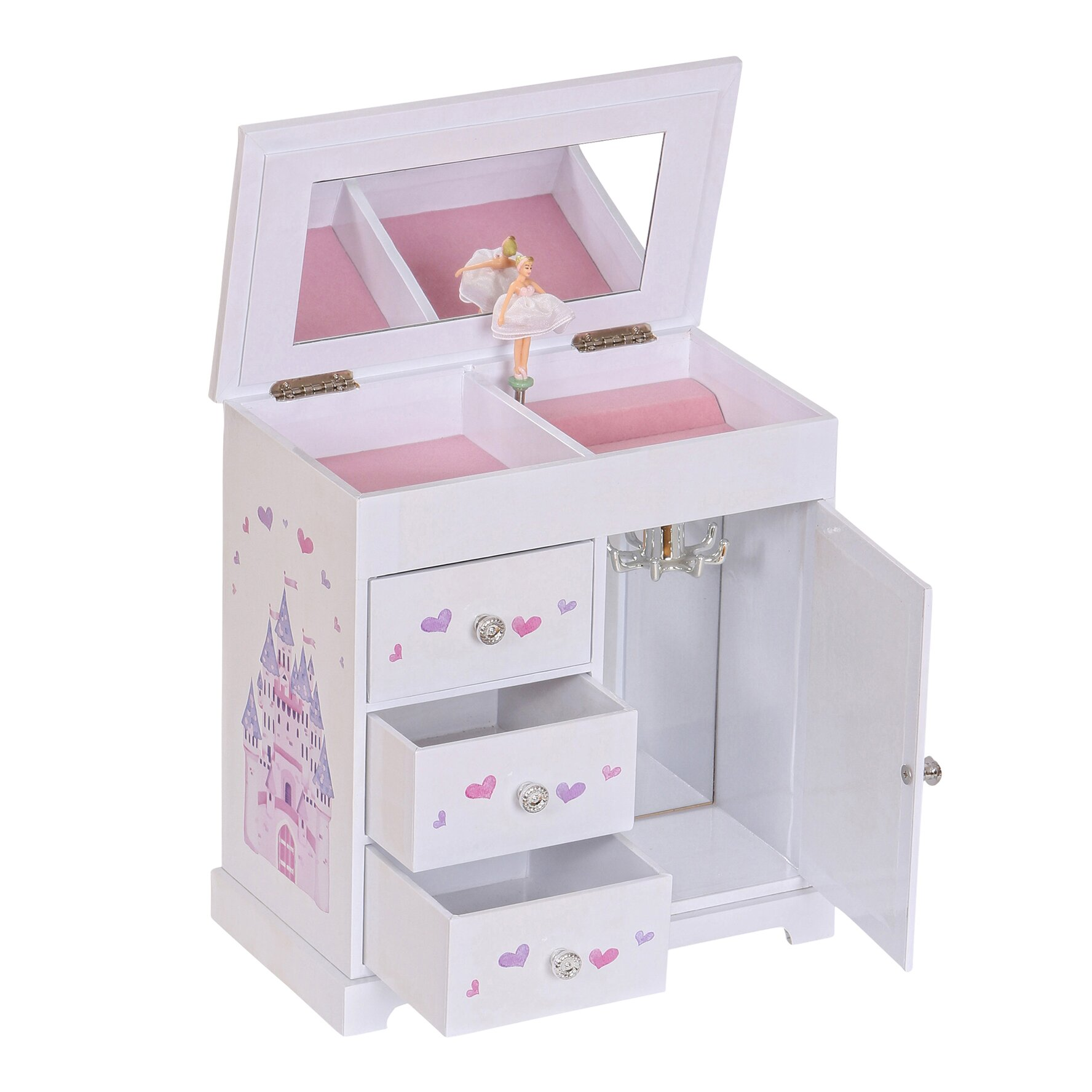 Mele & Co. Adalyn Girl's Musical Ballerina Jewelry Box ...