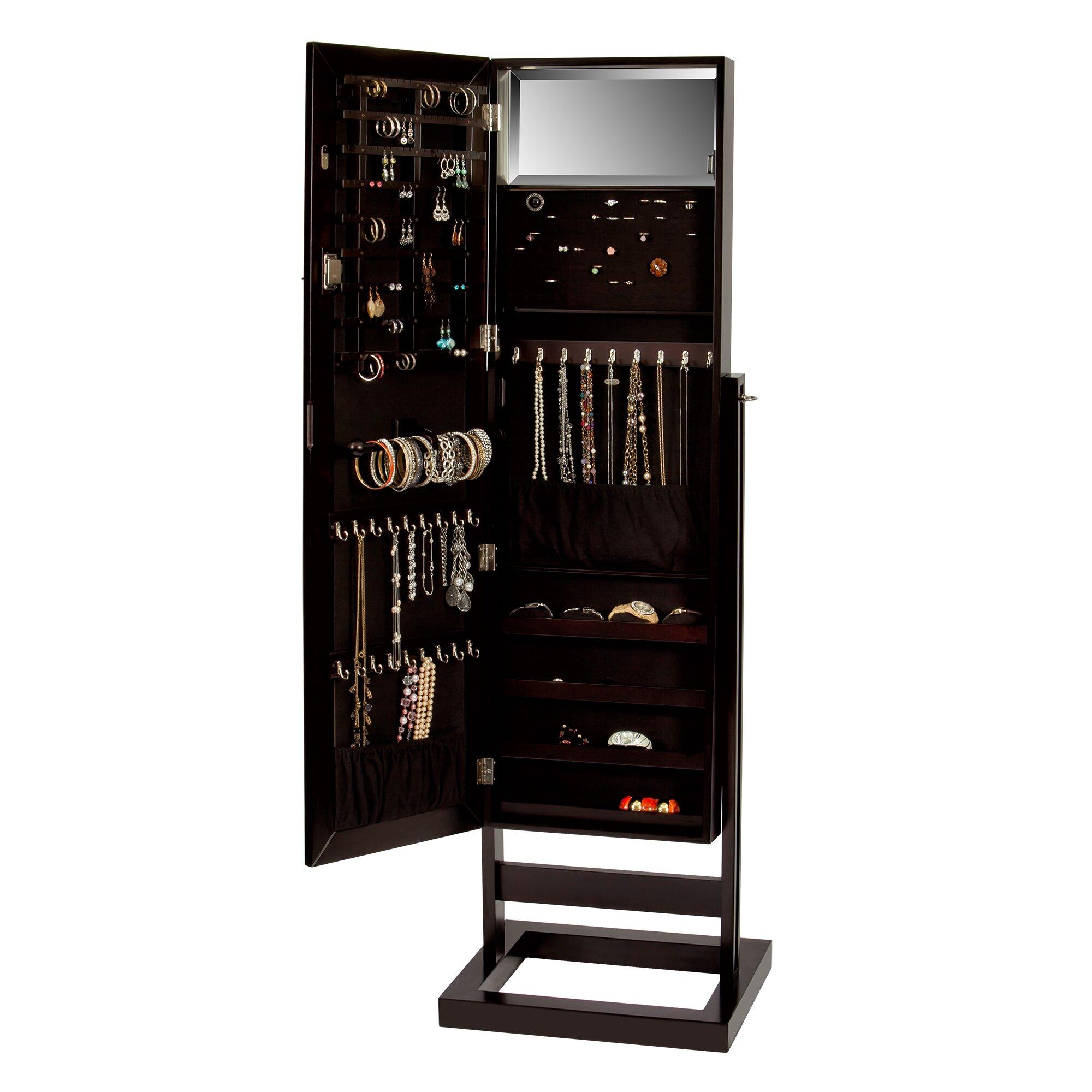 Mele & Co. Verona Mirrored Jewelry Armoire | Wayfair