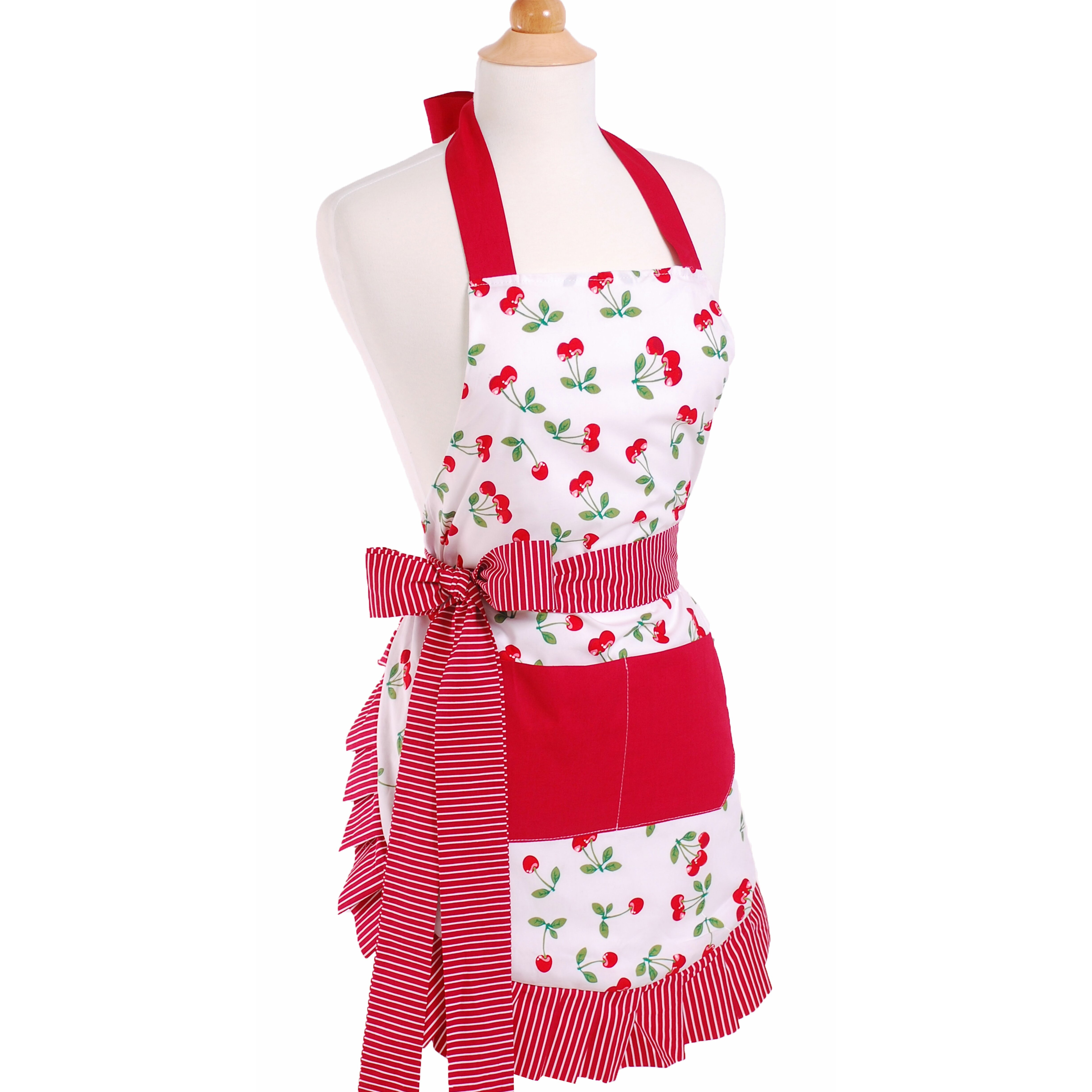 Flirty Aprons Women S Apron In Very Cherry Amp Reviews Wayfair