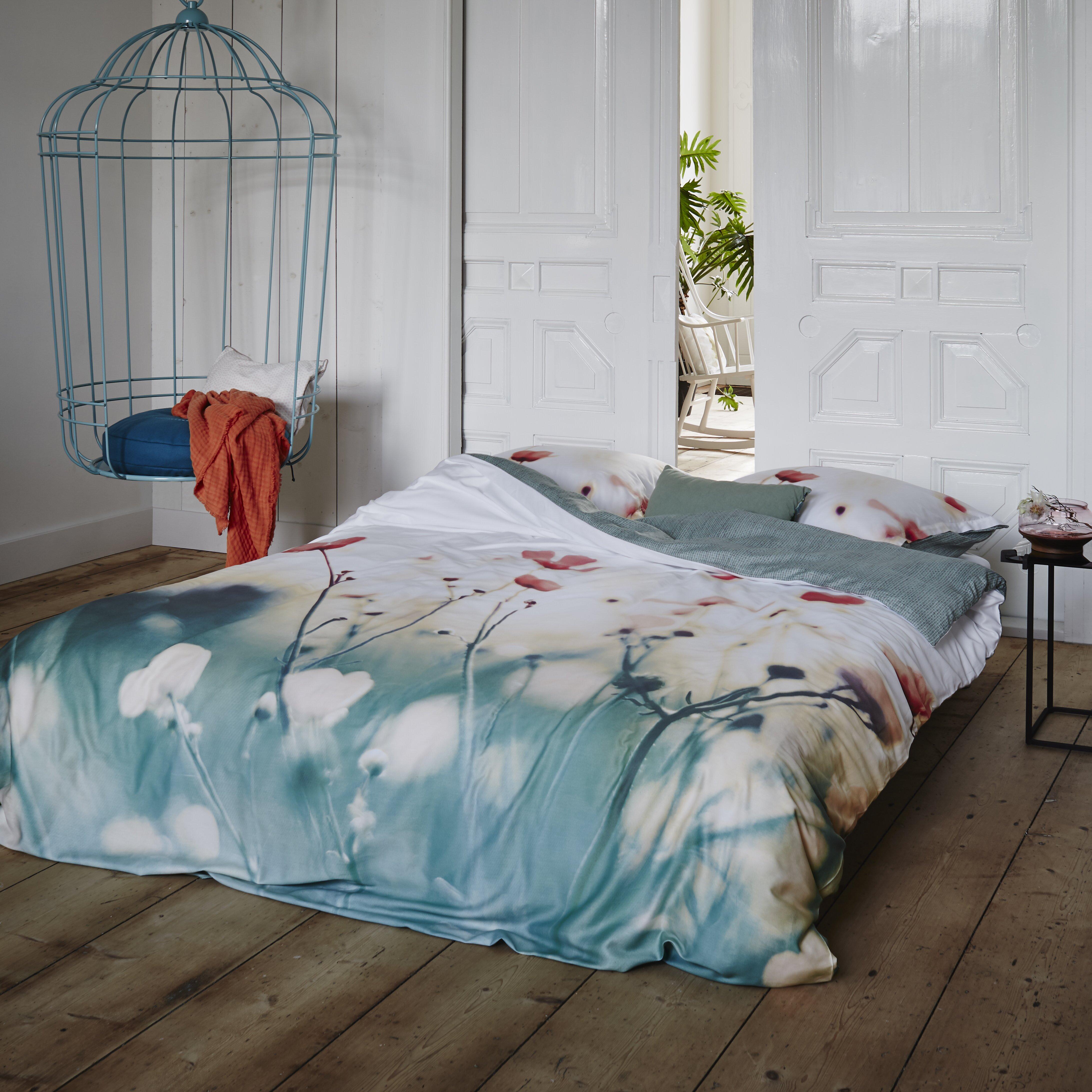 essenza bettw sche set fleuri aus 100 baumwolle satin. Black Bedroom Furniture Sets. Home Design Ideas