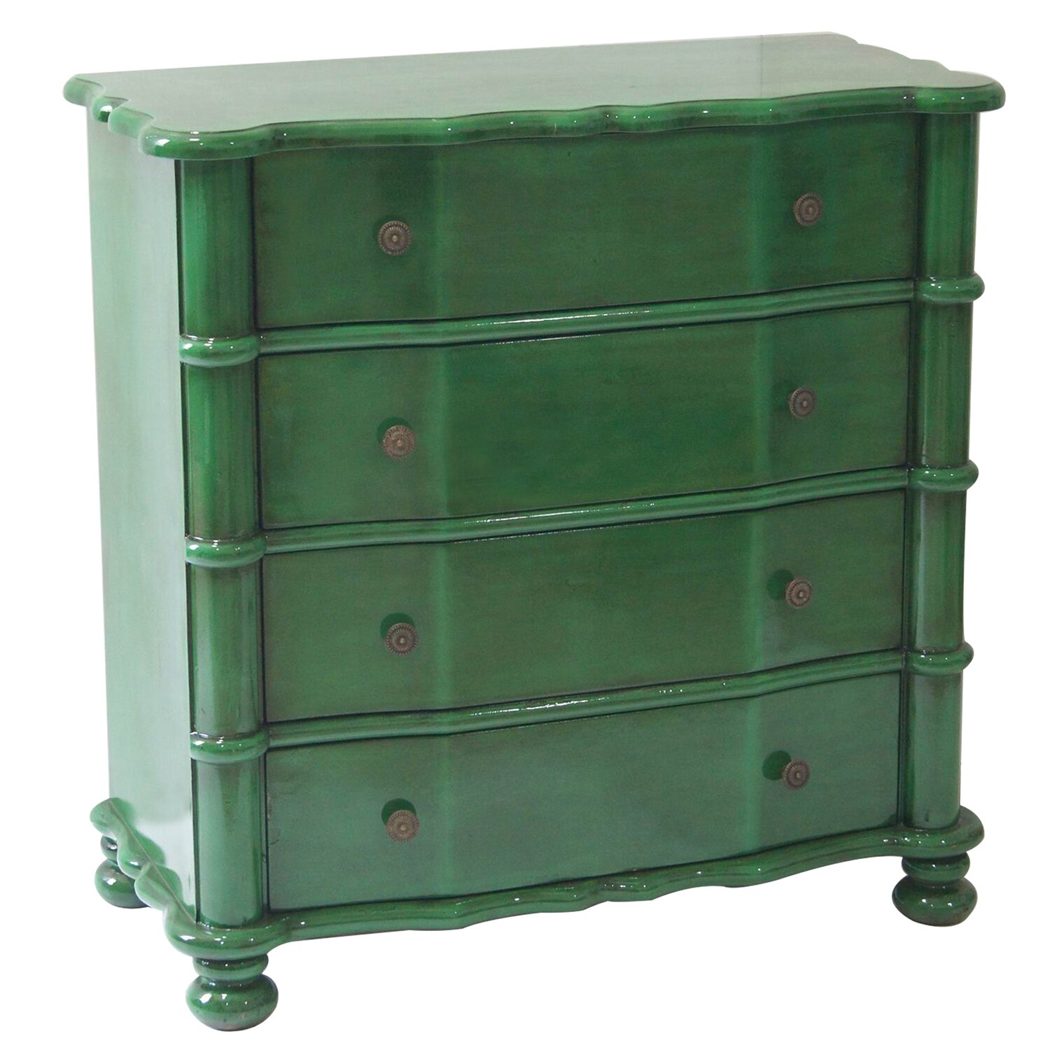 Size Of Kitchen Cabinets Crestview Kelly Emerald 4 Drawer Accent Chest Amp Reviews