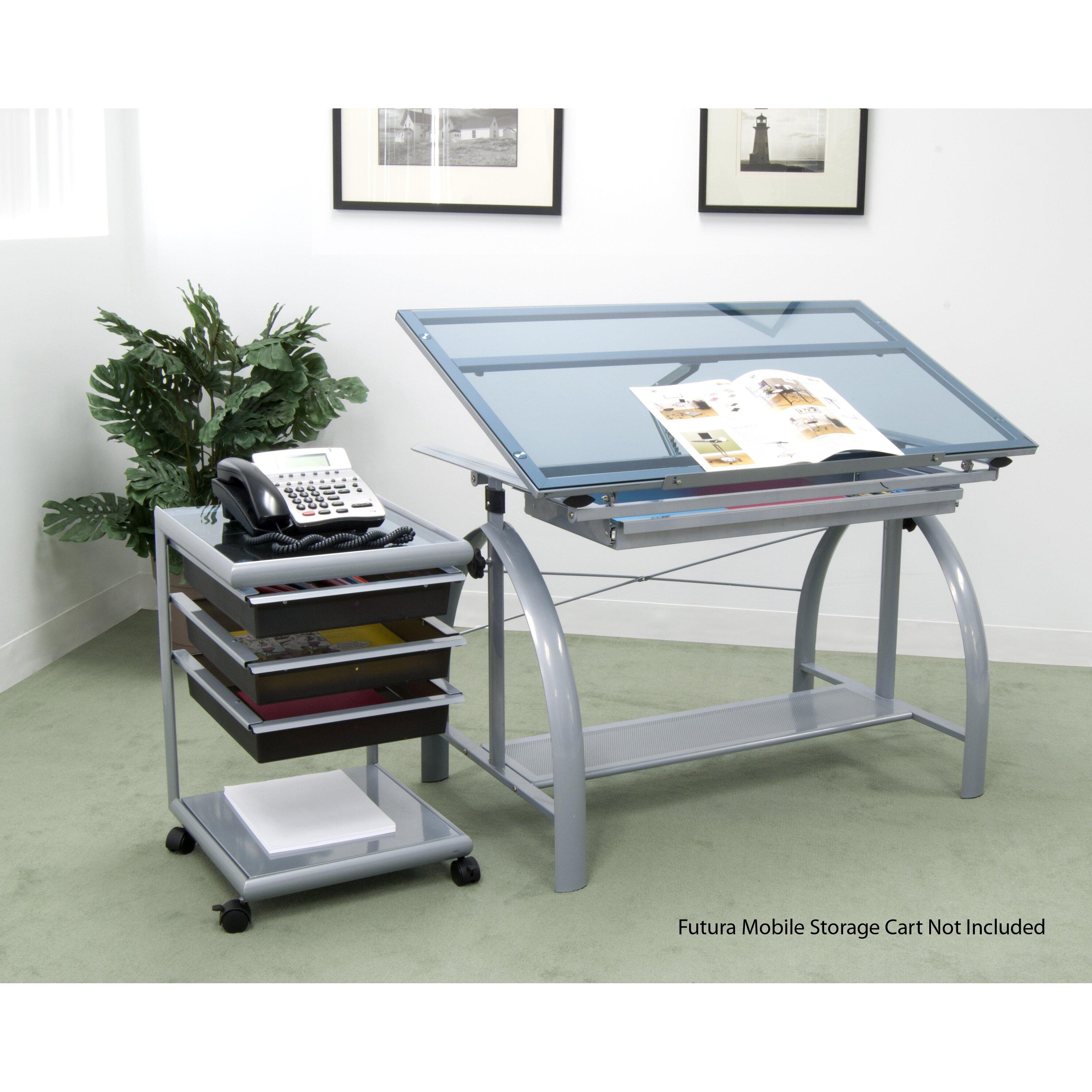 Avanta Drafting Table Studio Designs Glass Top