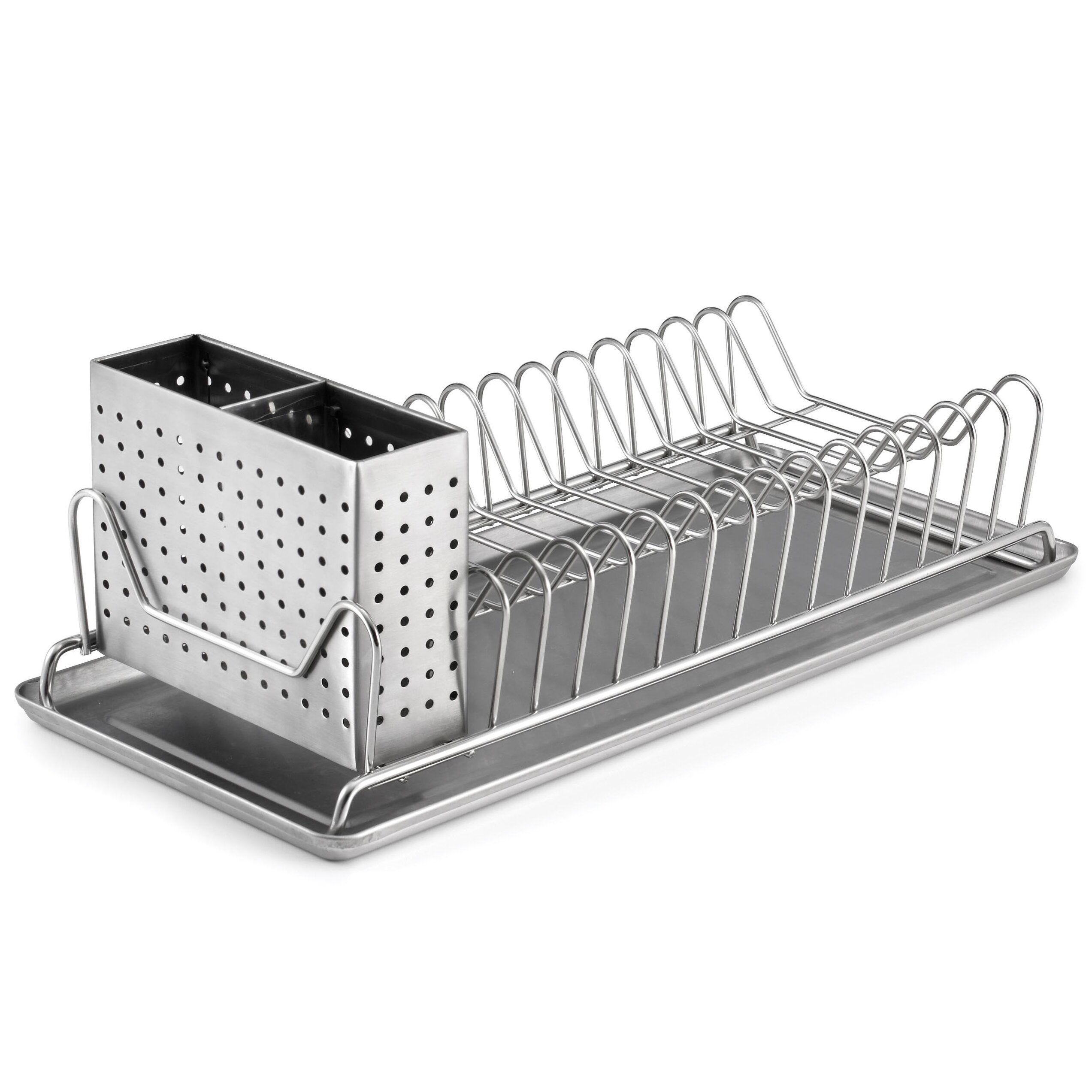 Polder products llc compact dish rack reviews wayfair Small stainless steel dish drying rack