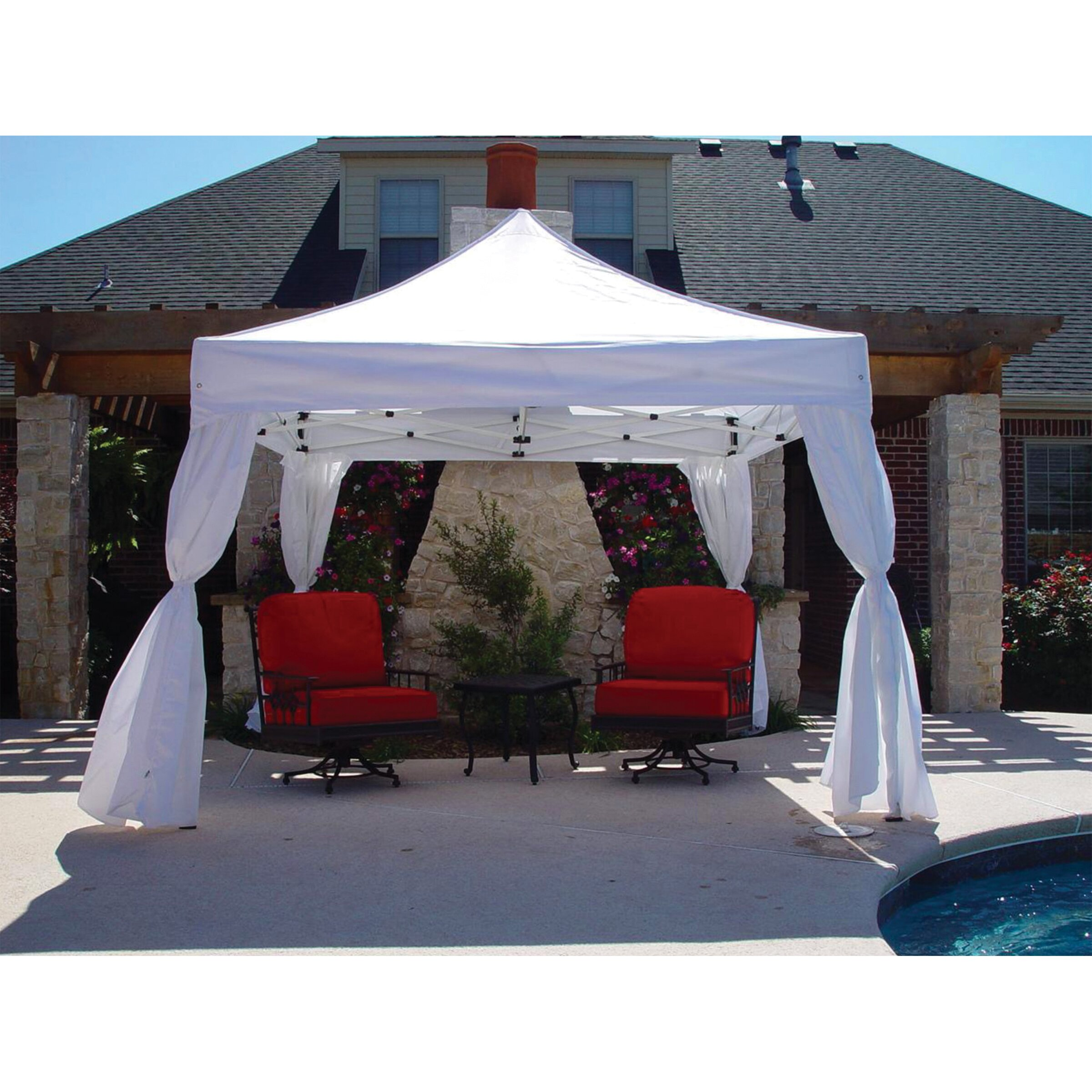 10 Ft 10 Ft Canopy : King canopy duralite ft w d reviews