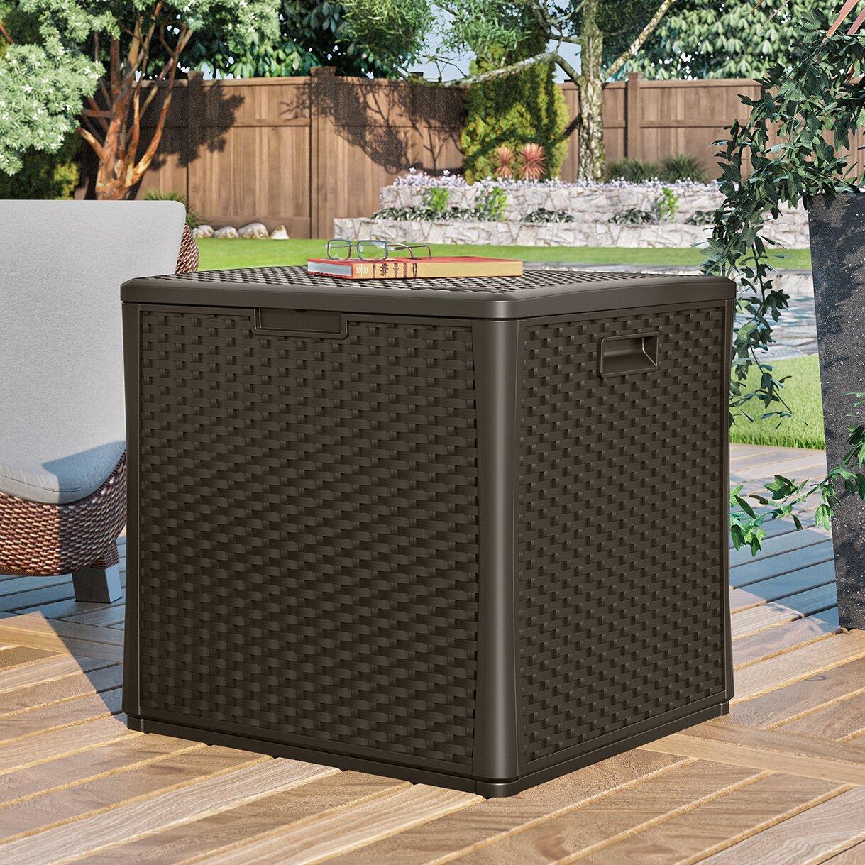 Suncast Cube 60 Gallon Deck Storage Box & Reviews | Wayfair