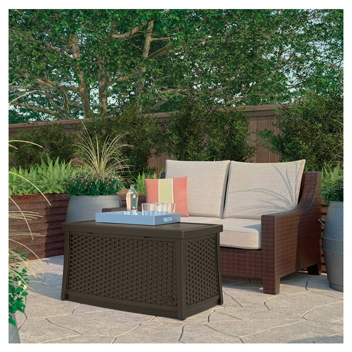 Suncast Deck Storage Coffee Table & Reviews