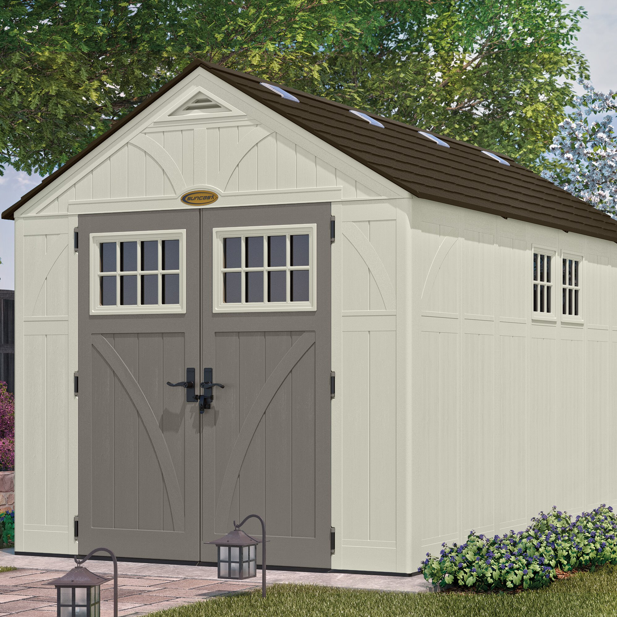 Tremont 8 Ft. x 13 Ft. D Resin Storage Shed & Reviews | Wayfair