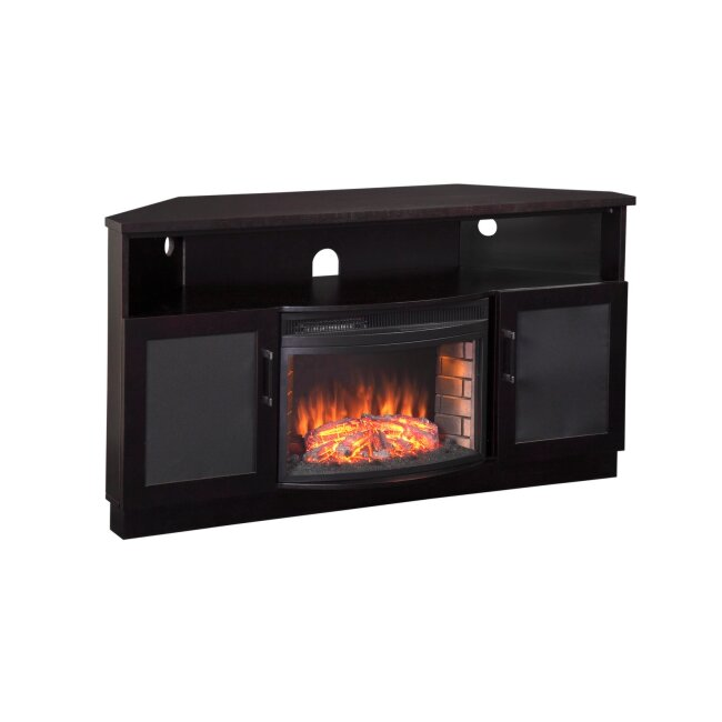 furnitech tv stand with electric fireplace reviews wayfair