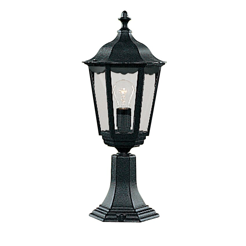 Parish Mini Pedestal Lantern: Searchlight Alex Small Pedestal 1 Light Pier Mount Light