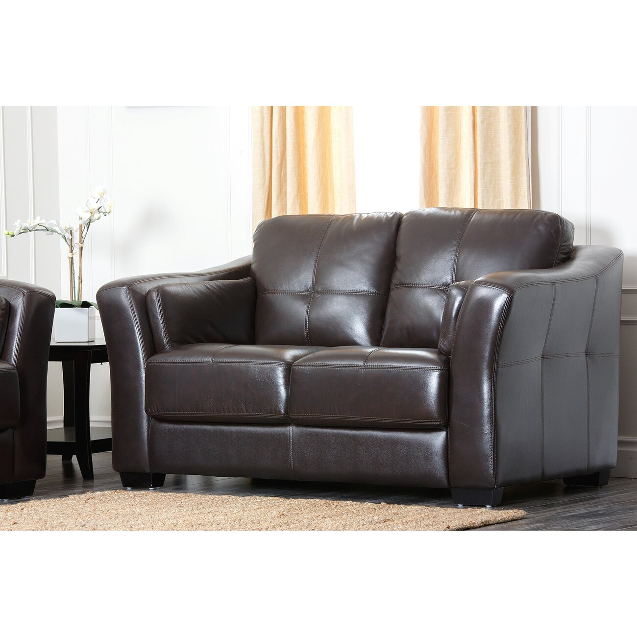 Leather Sofa Sydney: Abbyson Living Sydney Premium Leather Loveseat & Reviews