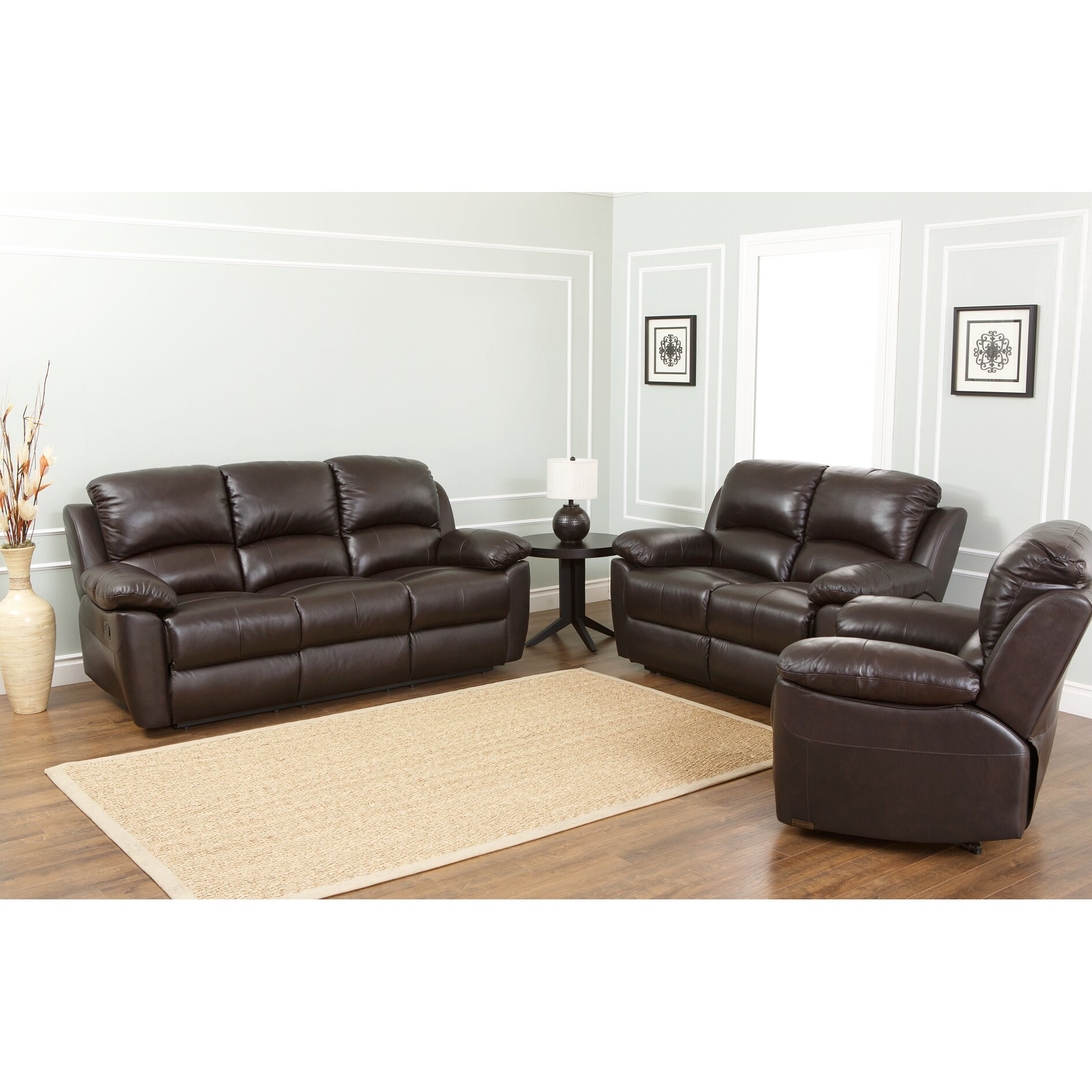 Abbyson living westwood leather recliner reviews wayfair for Abbyson living sedona leather chaise recliner