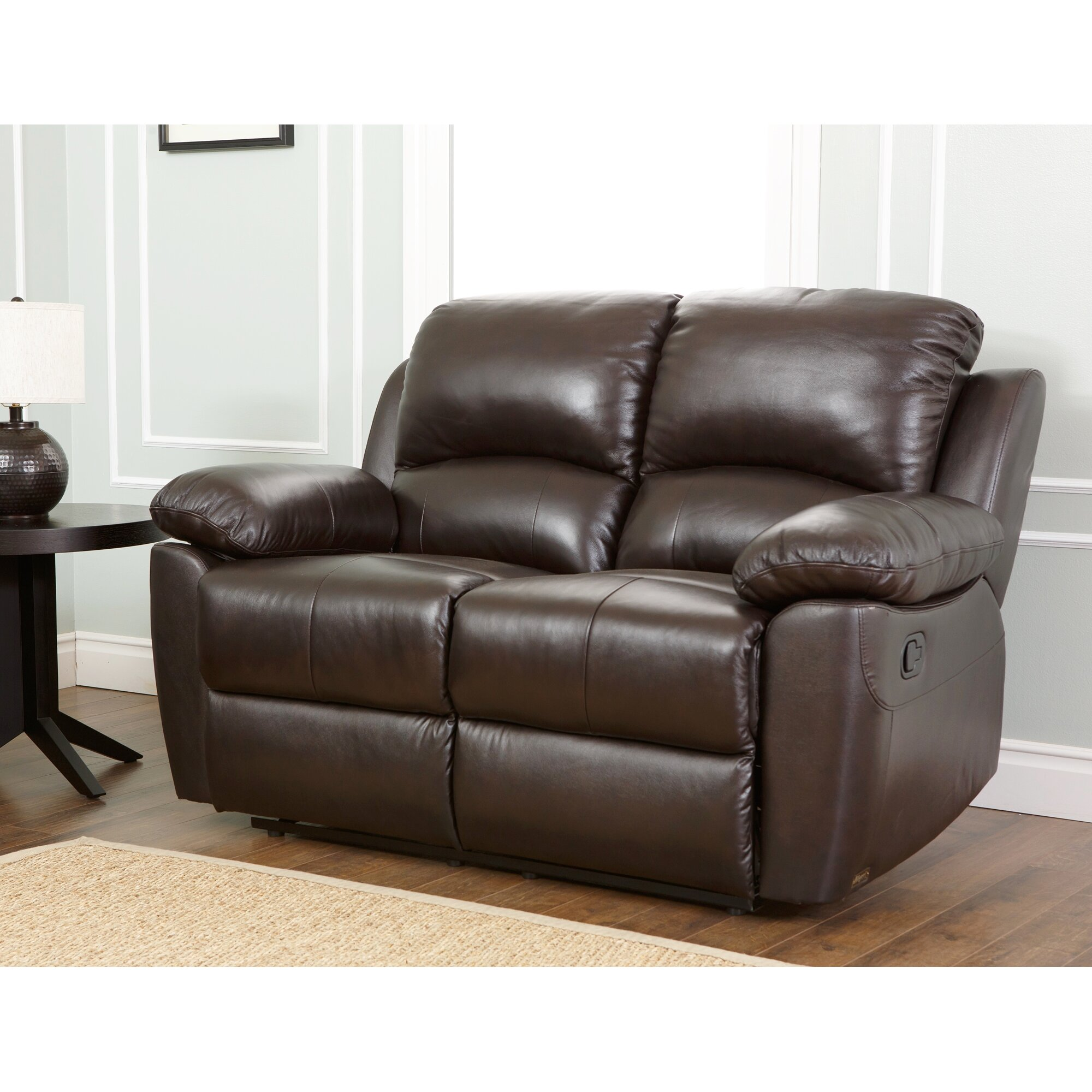 Abbyson living westwood leather reclining loveseat for Abbyson living sedona leather chaise recliner