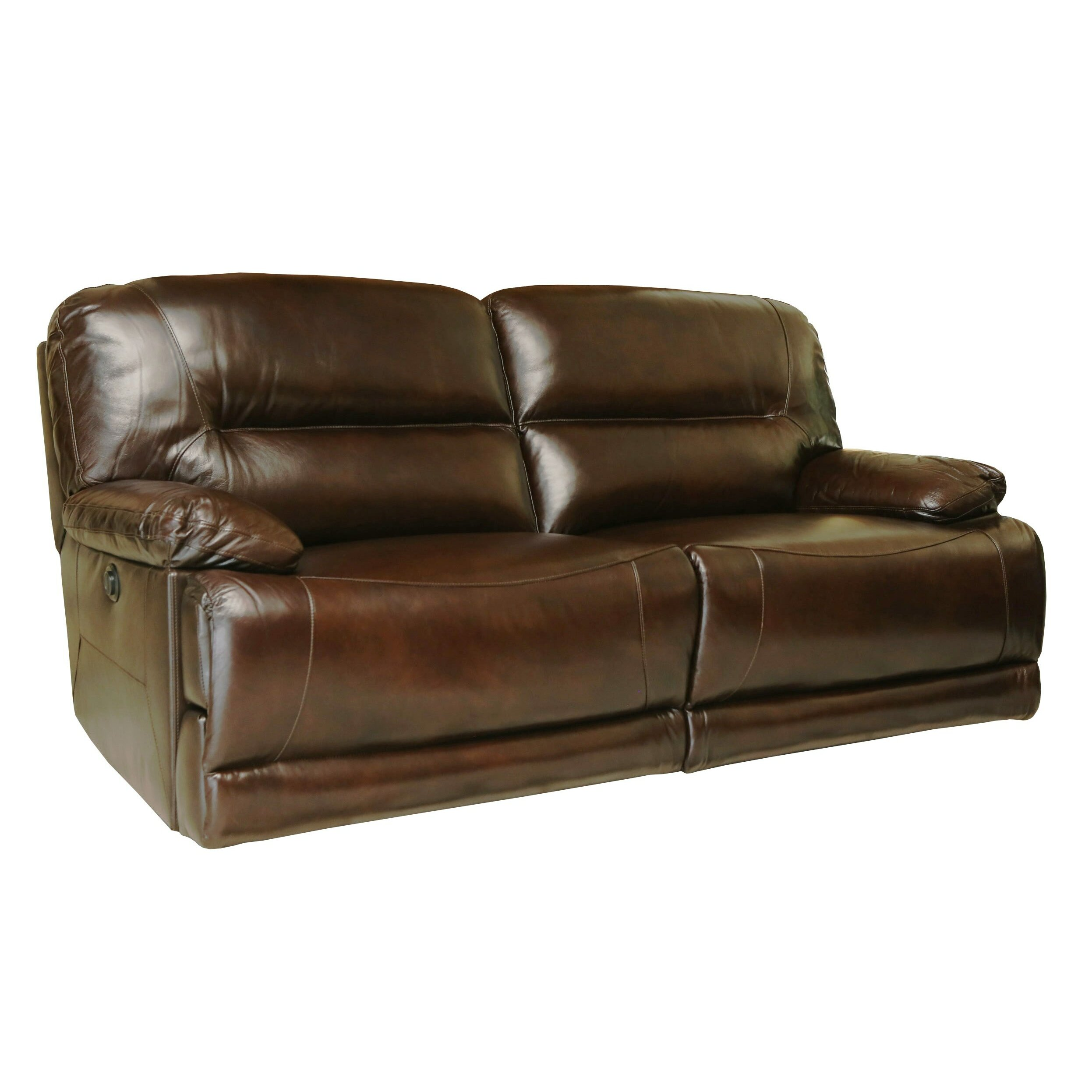 Abbyson Living Brownstone Leather Power Reclining Sofa