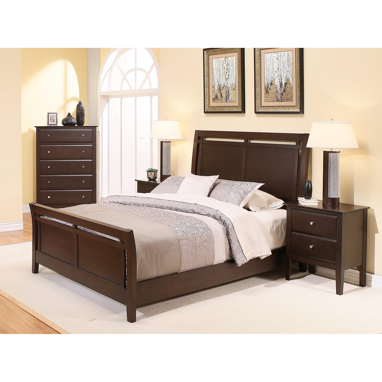 Latitude run kaitlin sleigh 4 piece bedroom set wayfair for 4 piece bedroom furniture set